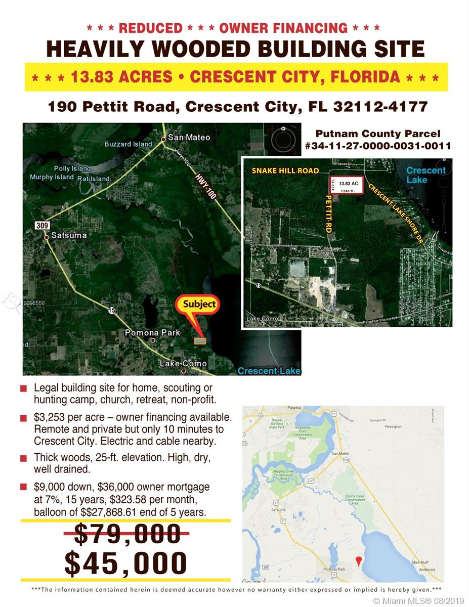 190 PETTIT RD-INTERLACHEN-FL, Other City - In The State Of Florida, FL 32112