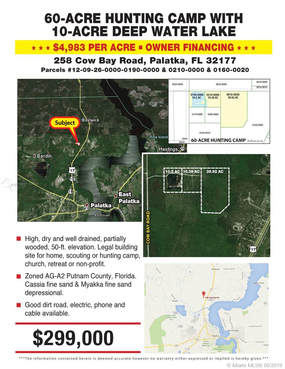 258 COW BAY RD-PALATKA, Other City - In The State Of Florida, FL 32177