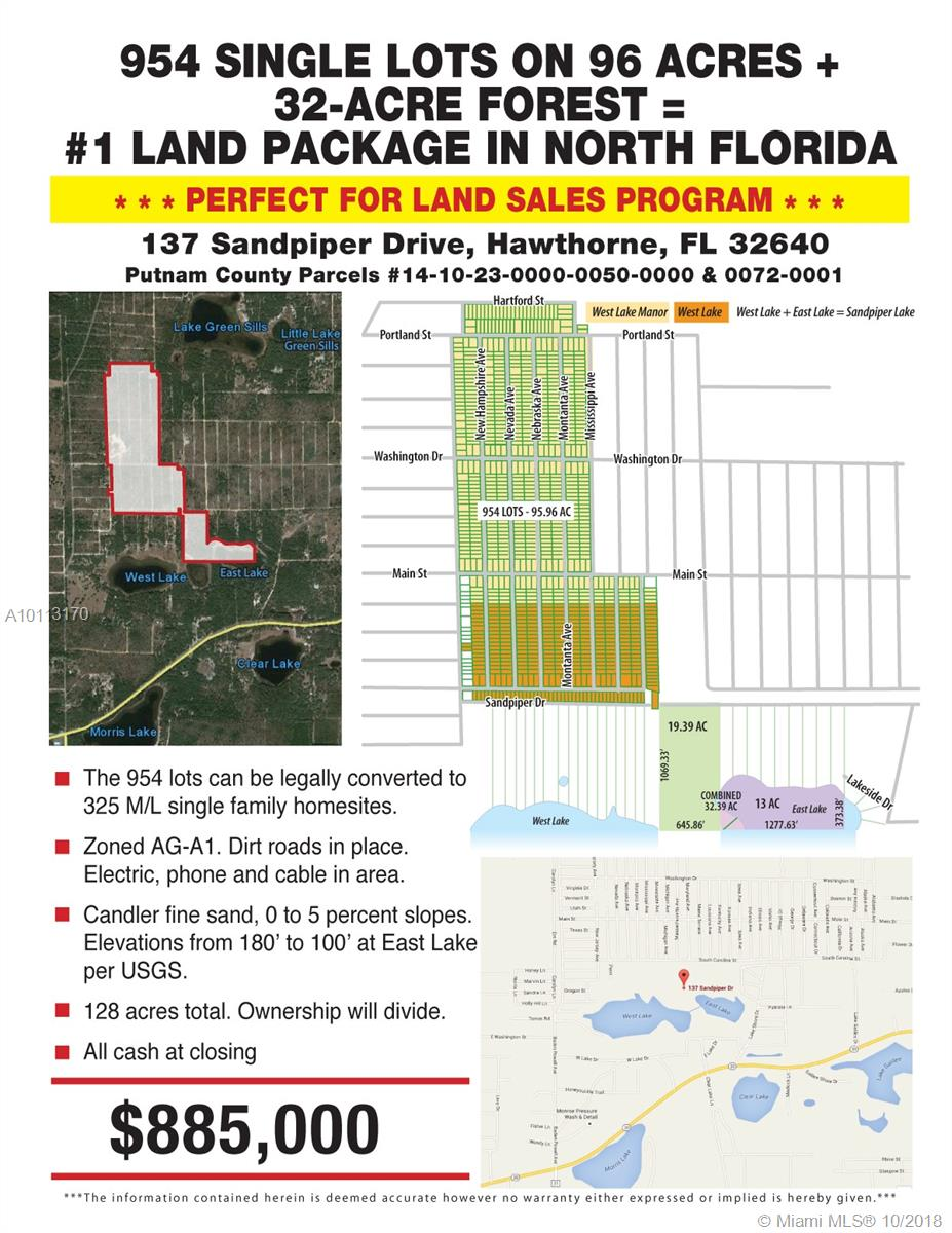 137 SANDPIPER DR=HAWTHORNE, Other City - In The State Of Florida, FL 32640