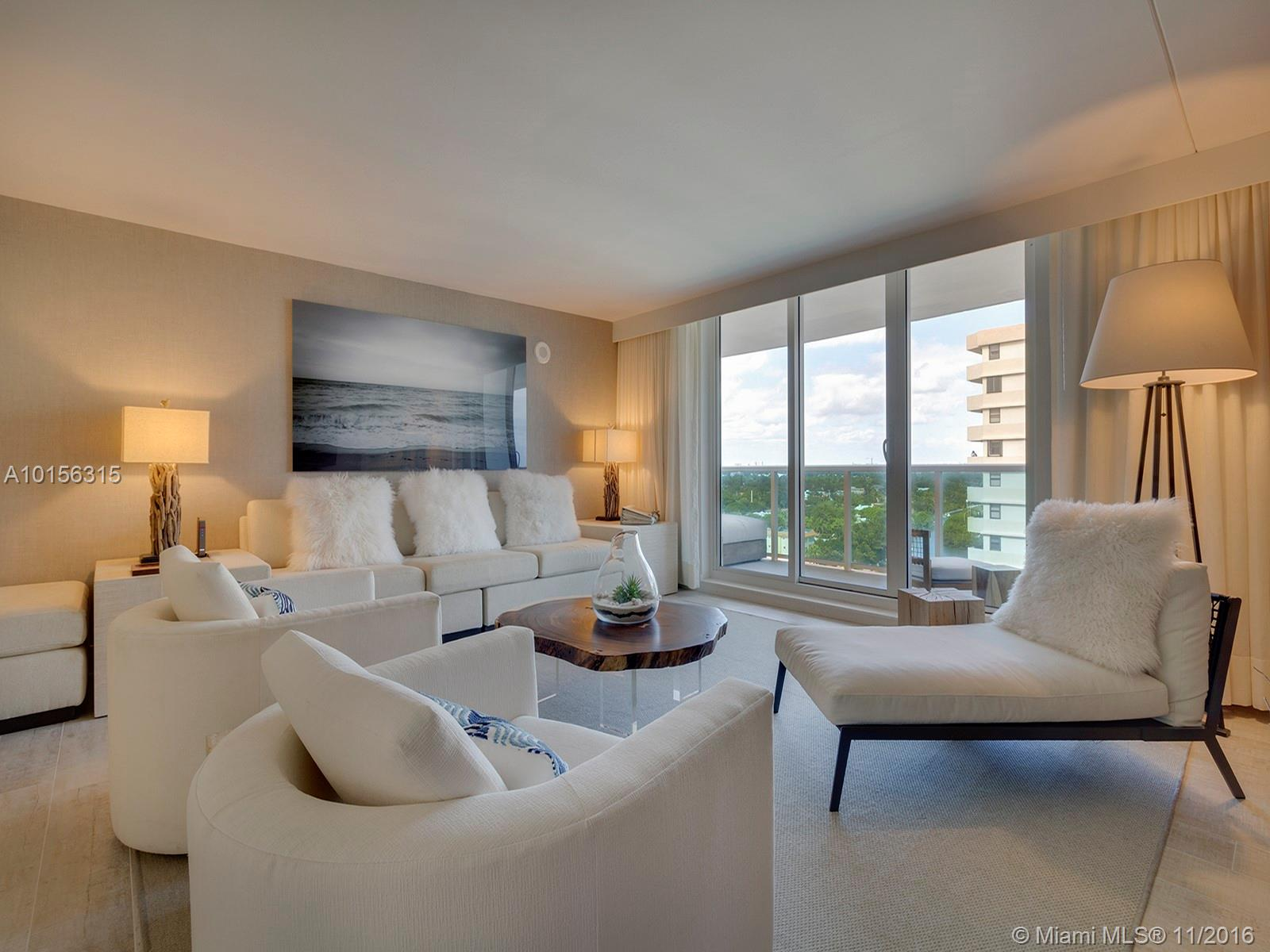 Incredibly spacious 3 bed/3 bath apartment beautifully decorated by world renowned Debora Aguiar. Located at the hottest destination in South Beach:1 Hotel & Homes, the only green hotel in M. Beach. The 1 sits directly on the ocean & is centered in the heart of South Beach. Enjoy any one of 4 swimming pools, including a rooftop pool with panoramic views of the ocean and Miami City skyline, Bamford Spa and 14,000 SF fitness center.