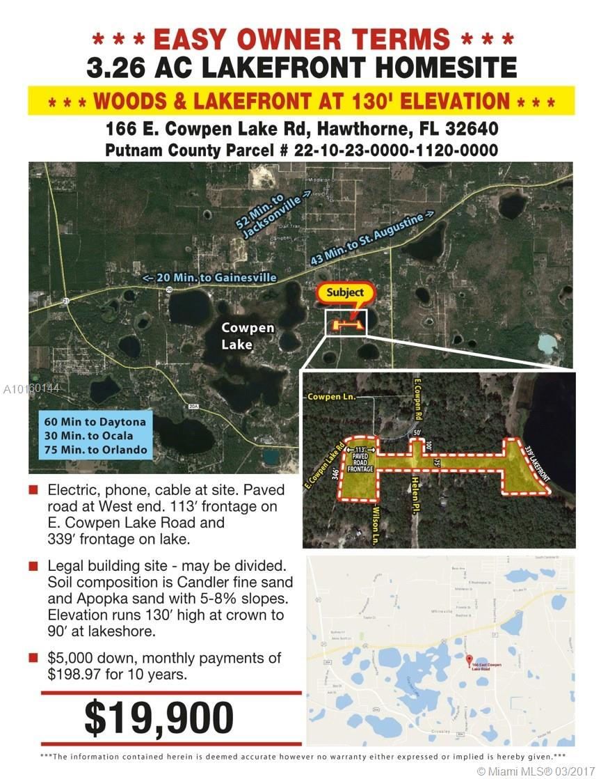 166 E COWPEN LK RD, Other City - In The State Of Florida, FL 32640