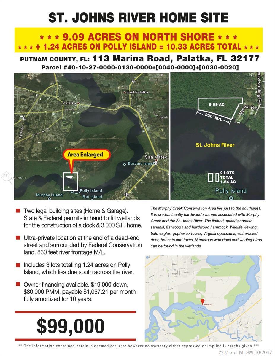 113 MARINA RD, Palatka, FL 32177