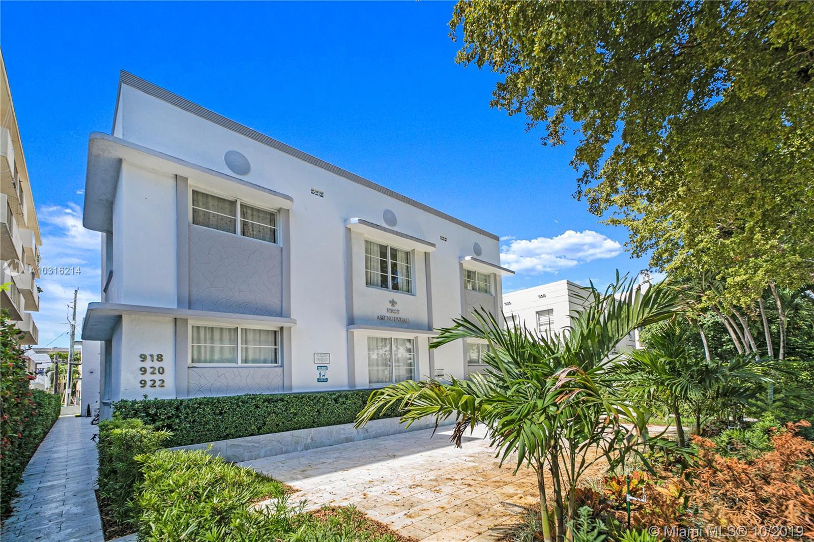 920  Jefferson Ave #5 For Sale A10316214, FL