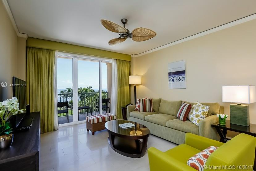 Gorgeous Ritz-Carlton 4th floor ocean front one bedroom residence with great views of the ocean and grand lawn, with guests getting full access to all Ritz-Carlton hotel amenities, the same as all hotel guest. The hotel routinely charges over $1,000 a night for this same type of suite (and much more during Christmas/New Years, Miami Open, and other popular winter dates). This apt. provides a fantastic opportunity to get the full Ritz/Key Biscayne experience at a large discount (typically 40-50% less than the hotel). The owner has two other apts in the Ritz Key Biscayne for larger groups. The listing price shown is for per week.