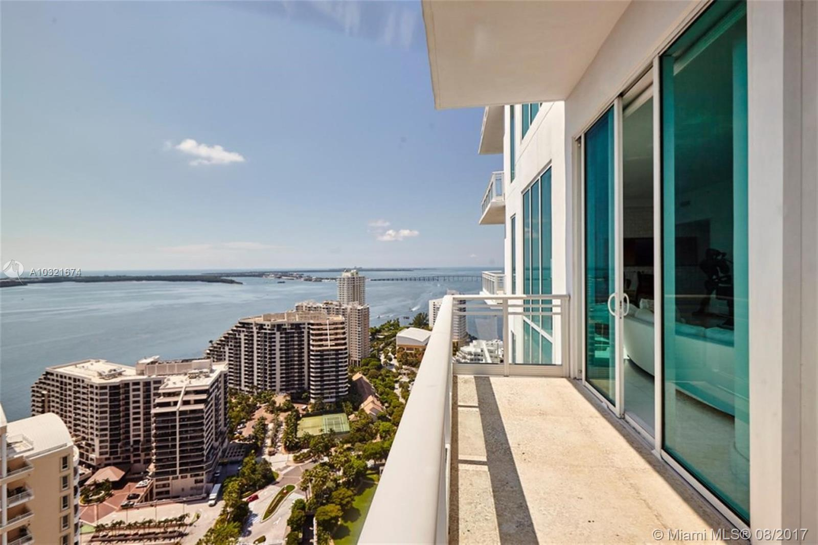 *3 parking spaces!* This spectacular residence in the sky features 12 foot ceilings, private elevator access and marble floors throughout. Asia is Brickell Key's most luxurious building. Breathtaking views from every room on this 28th floor unit. Four bedrooms, five and a half bathroom unit plus maid's rooms and media room.