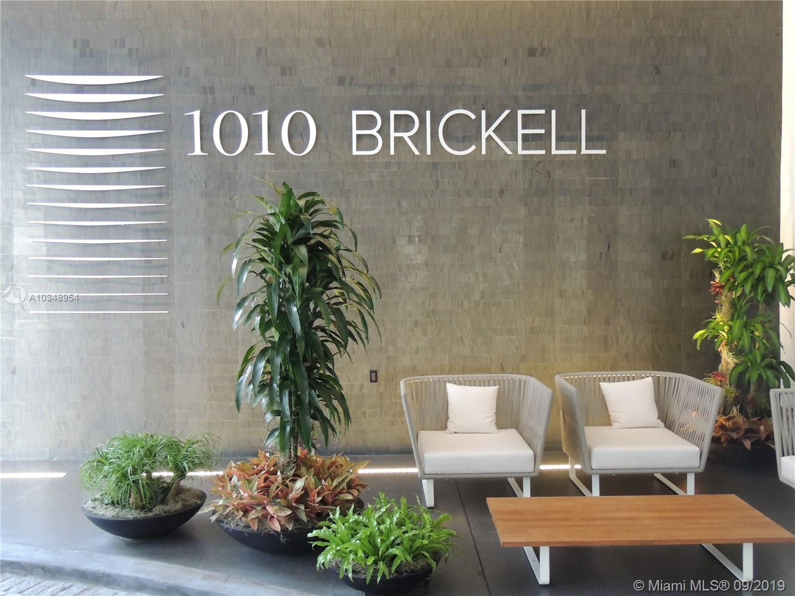 **Investors only Please**Luxury 1/1½  plus Den*Corner Unit*w/newly installed flooring*Rented at $2650/Mon thru May 31, 2021*1010 Brickell is centrally located in the heart of Miami's Brickell Avenue, within one block of Mary Brickell Village & Brickell City Centre.  Featuring The Club at 1010, an exclusive two-story amenity area w/dozens of activities for all ages & interests.  Amenities include a rooftop pool*lounge w/outdoor theater*meeting rooms*conference space*indoor heated swimming pool*a spa featuring a hammam Turkish steam bath are*an impact-absorbing outdoor running track providing unparalleled views of the Miami skyline*indoor game room*indoor/outdoor playground areas including a mini water park*an elegant social room*a fitness center*courts for a variety of sports & so much more