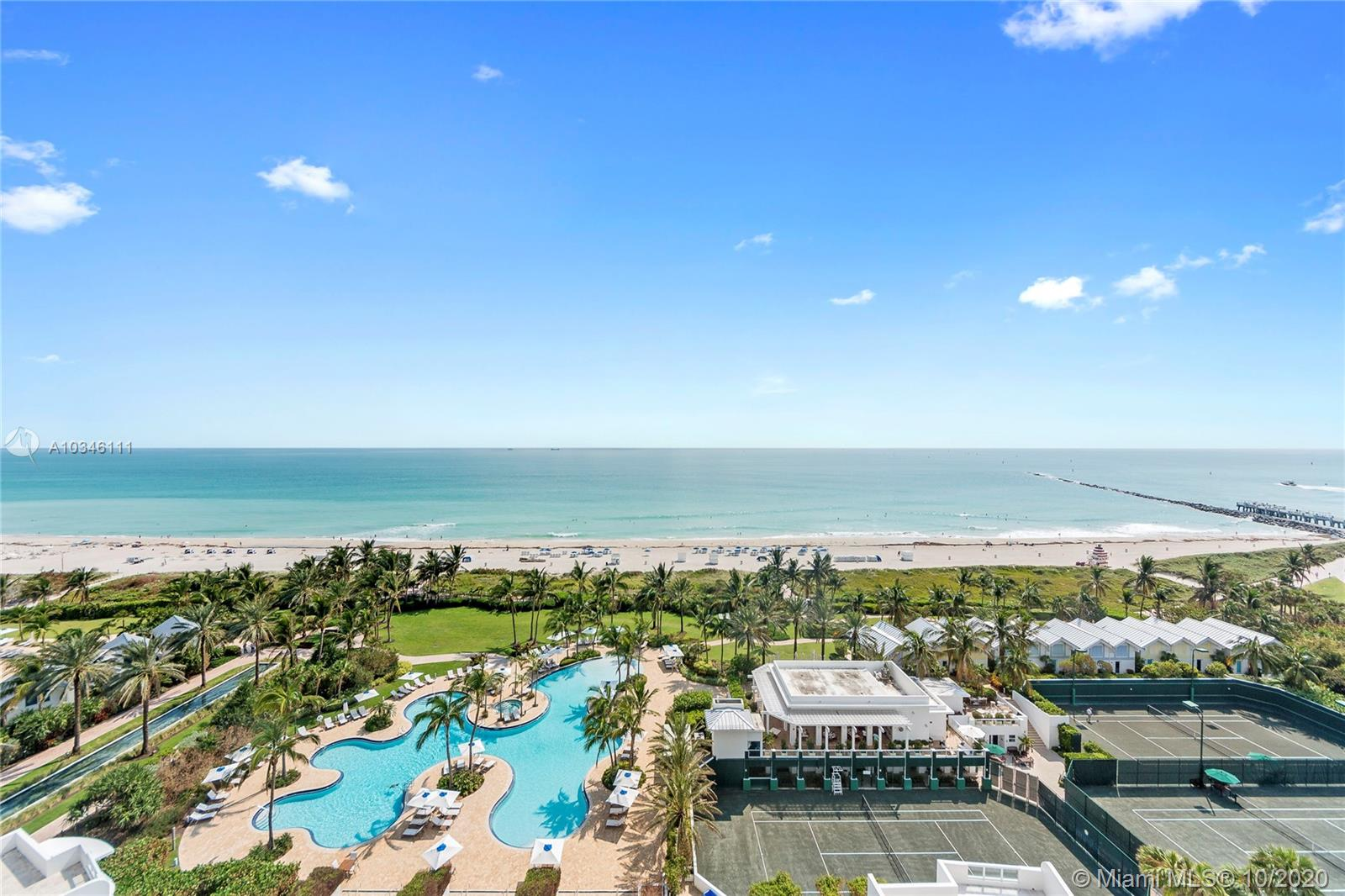 Enjoy direct ocean views from the large, wrap around balcony of this gorgeous and rarely available modified three bedroom unit.  Spacious floor plan with lots of floor to ceiling glass, this home feels like a beach house.  Located on SE corner of the Continuum south tower.  Enjoy the amenities of Continuum on South Beach:  direct beach access, Beach Club, on-site restaurant, 3-story fitness/spa, lagoon pools, lap pool and tennis courts.
