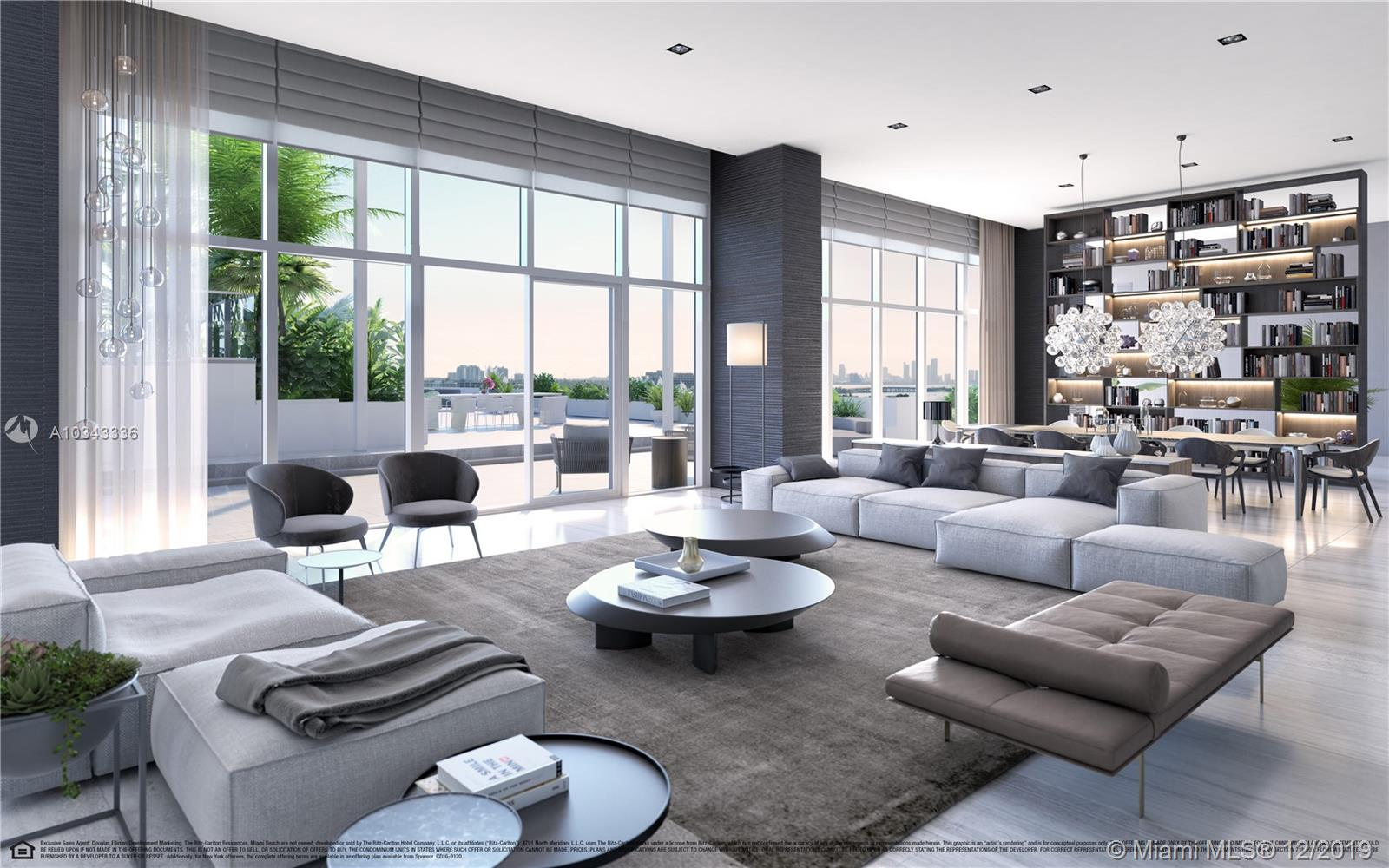 Unlike anything you have seen before, this is one of the five extravagant and surreal penthouses of The Ritz-Carlton Residences, Miami Beach. This two level residence overlooking Biscayne Bay and Downtown Miami, is perfect for entertaining, featuring immense outdoor living area with plunge pool and outdoor kitchen. Residence features include: private elevator and foyer, stone and wood flooring throughout, floor-to-ceiling windows, Boffi kitchens, Gaggenau appliances and Zucchetti plumbing. Schedule a private appointment of the first Model Residence Designed by Piero Lissoni today.