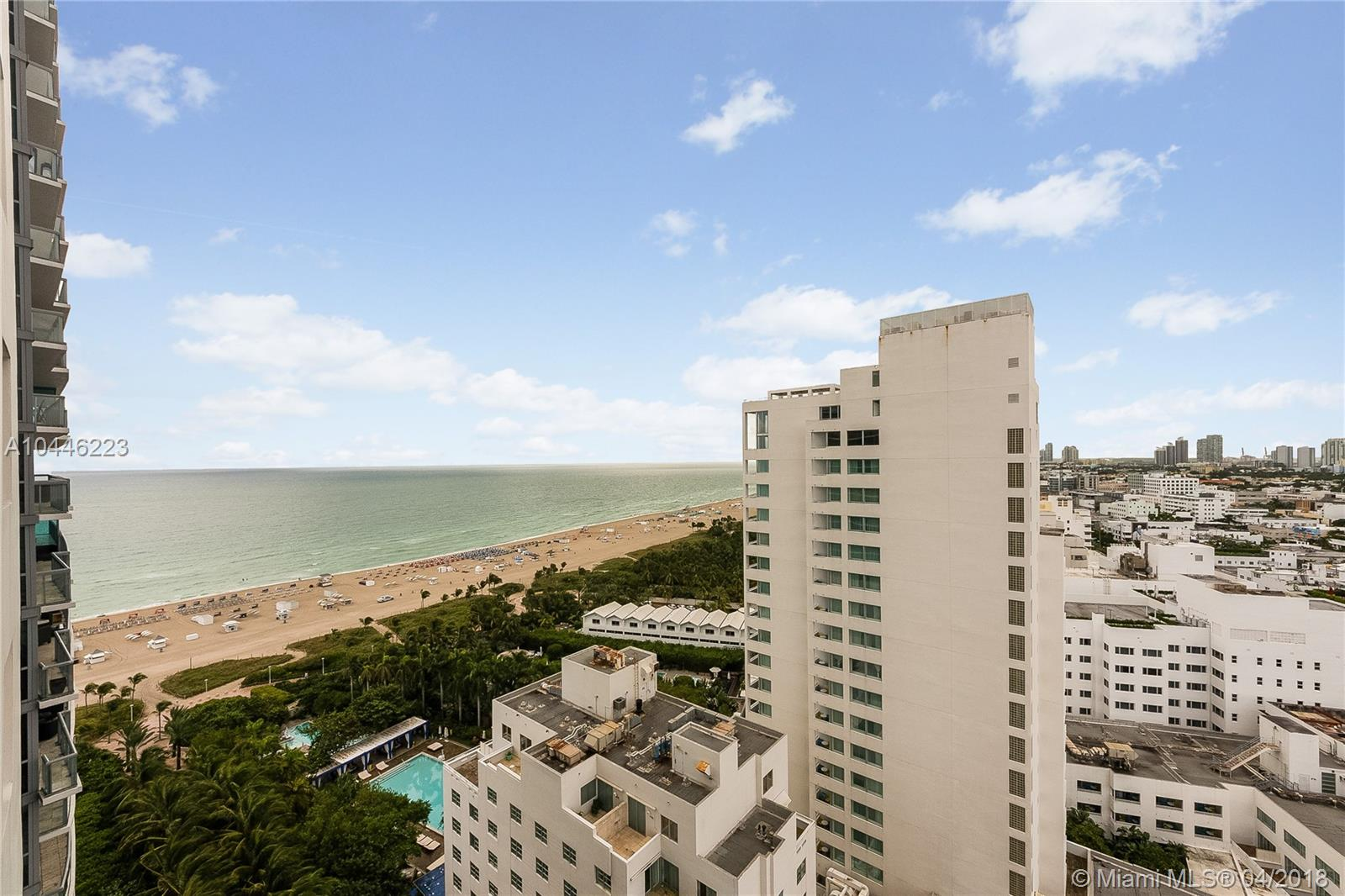 Stunning 2 bedroom with ocean & city views.  Enjoy both sunrise and sunsets from this corner unit.  Designed by famed designer Debra Moris, 5 star hotel amenities include; fine dining, 24 hour room service, gym, spa, maid service, concierge, 3 azure infinity edge pools, beach side and poolside waiter service.  Top of the line appliances, miele gaggenau, sub-zero.  Great income opportunity.