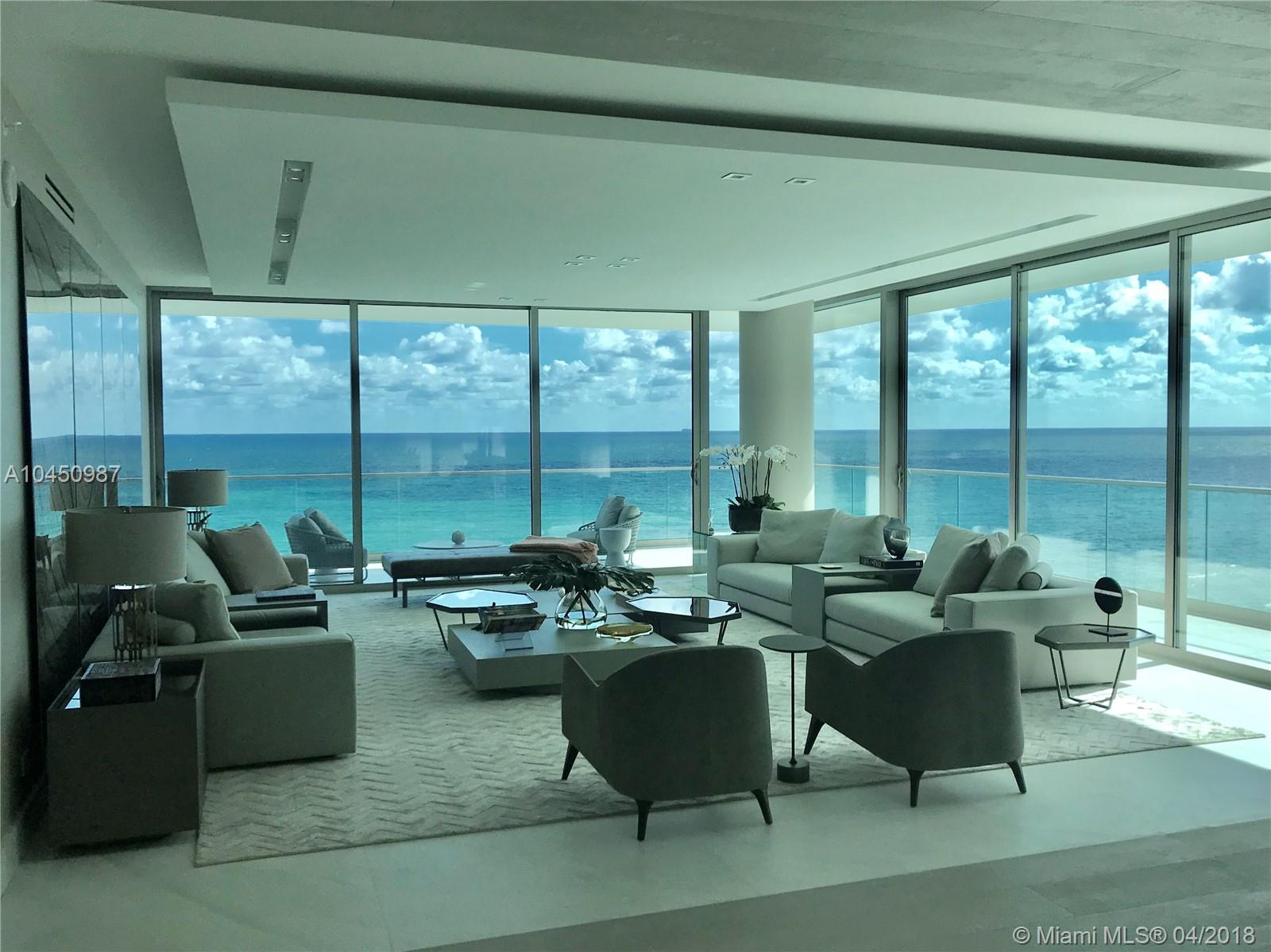AMAZING MODEL UNIT completely turn key @ OCEANA BAL HARBOUR: Worth to see and show! The most beautiful in Oceana. Big corner unit and flow-through units with unobstructed views to Ocean and Bay. Amazing wrap around terrace of about 1,600 SF on top to the 4,185 SF under AC. Fully finished and furnished as model unit for Oceana. 3 bedrooms, 4 baths, family Den and much more. Marble and wood floors, Dada Kitchens with Golden Calacatta,  Gaggenau appliances and exquisitely finished and decorated . Turn Key unit, in the hart of Bal Harbour, the most exclusive and valued area in Miami.  A MUST SEE!!