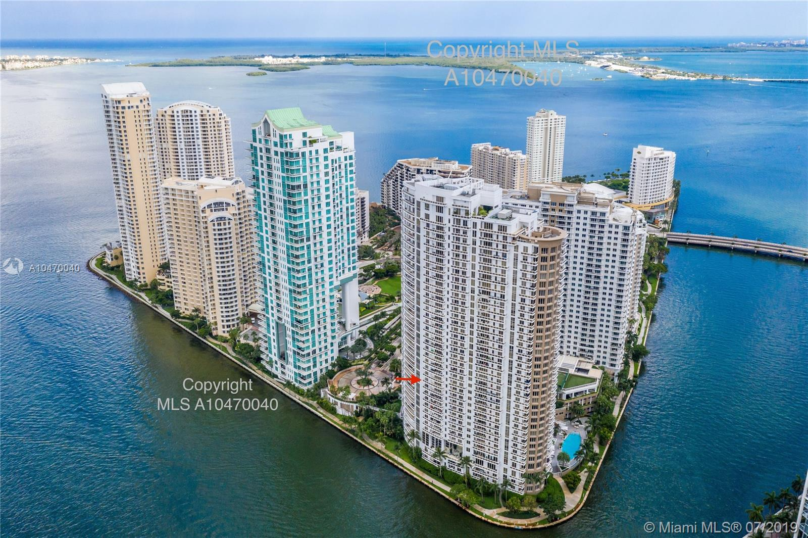 901  Brickell Key Blvd #1406 For Sale A10470040, FL