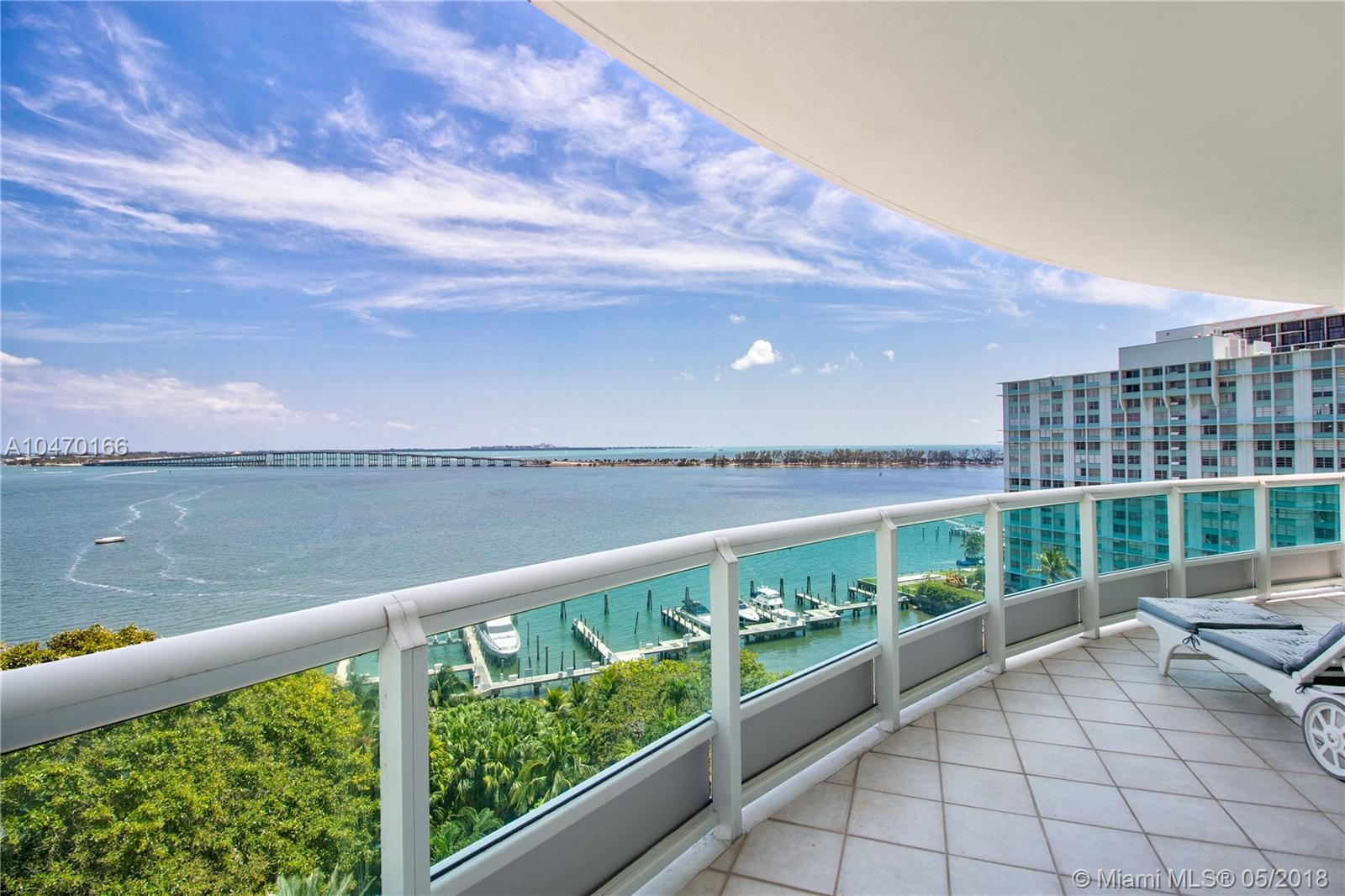 This astonishing one of a kind residence feels like a mansion in the sky, boasting 3,170SF of living area, complimented by walls of glass which floods the apartment with natural light. Mesmerizing direct ocean, city skyline & sunrise views from the comfort of your private wrap around balcony. Located in the most iconic building in Brickell. Santa Maria is a true tropical oasis offering residents top of the line amenities including Spa & Fitness Center with city views,Oceanfront Pool with Bar services, Valet Parking & much more.Inside you will find 3beds & 4.5baths with private elevator, MB offers 2 huge walk-in closets, private bath with shower & separate Jacuzzi tub.Unit also includes 2 guests rooms with private baths,Laundry room,formal dining room & spacious kitchen with cooking island.