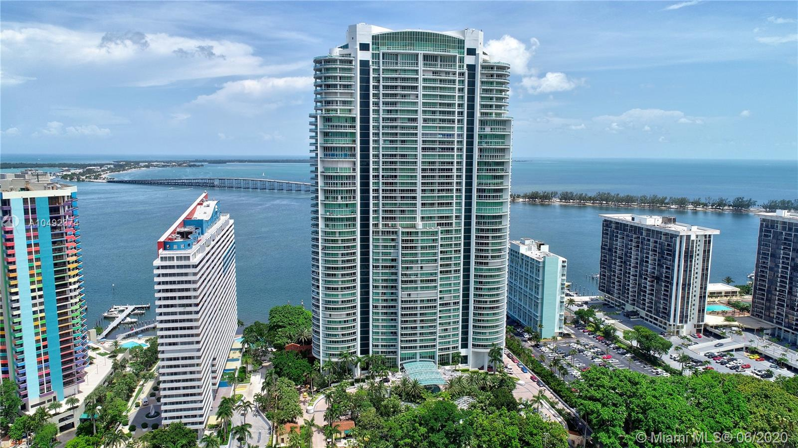 One of the best building in Brickell, the elegant and unique Santa Maria. Breathtaking panoramic views of the Ocean, Bay and mesmerizing Skyline from this gorgeous unit that has been completely renovated with luxurious finishes! Spacious 4 bedrooms 5.5 bathrooms featuring Veneta Kitchen with top of the line appliances, customs lavish closets, shades, doors, walls, wood and marble floors. Master bedroom with opulent in suite bathroom. Flow trough unit w/ tons of natural light, private foyer and elevator. Expansive terraces with stunning unobstructed views of the Downtown Miami skyline, Biscayne Bay views. Santa Maria offers state of the art amenities, world class gym with never-ending views, heated pool, lighted tennis court & racquet ball court, marina access, privacy, location & elegance