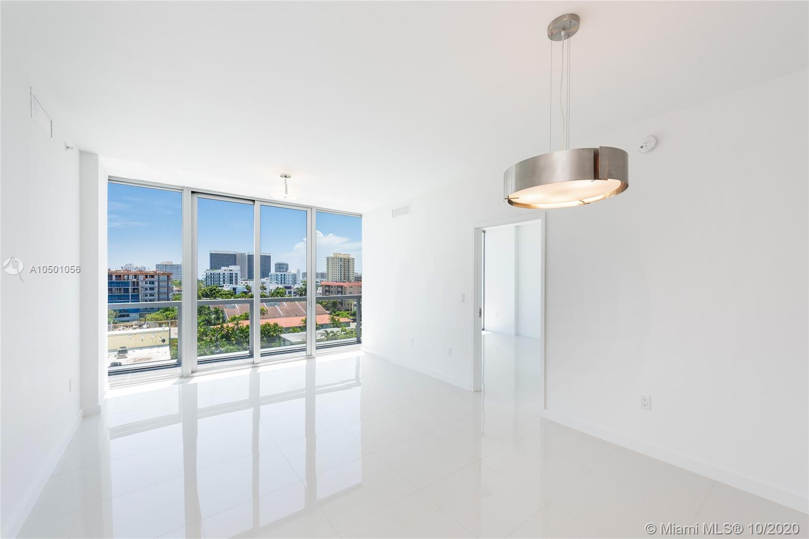 Motivated Seller!! Stunning new unit on the top floor of Kai condo in Bay Harbor. No one has ever lived in it. 2BRs plus den (can be easily converted in 3rd bedroom), 3 full baths. Largest 2BR in building, white porcelain floors throughout, 10 ft ceilings, floor to ceiling windows, kitchen w/Bosch appliances, Mia Cucina cabinetry and Quartz countertops. Expansive terrace runs the entire width of the unit. All hurricane impact windows and doors, 2 parking spots, 1 storage bin. This boutique luxury waterfront building offers its residents 24hr security, roof top pool with Jacuzzi, BBQ and more. Walking distance to the beach and just steps from the famous Bal Harbour Shops & fine dining. Dock slips are available.