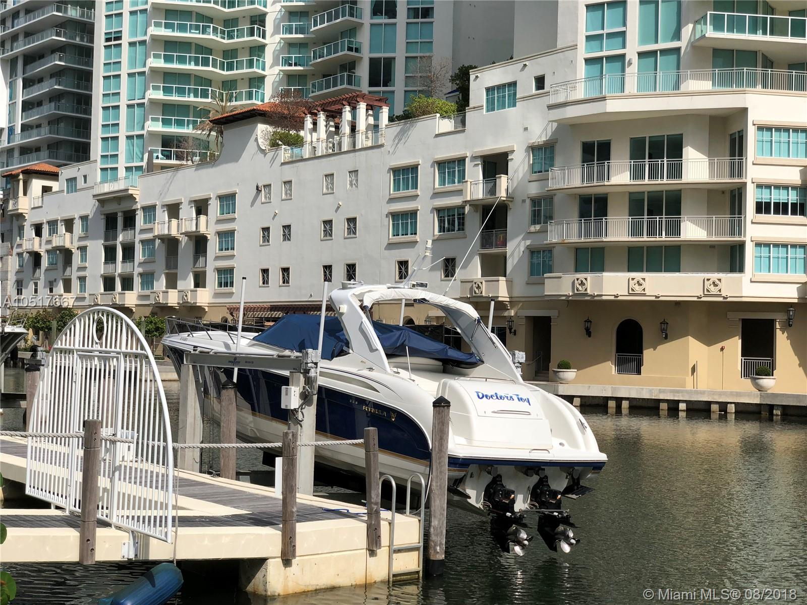 Very desirable 60 feet boat dock for sale, 5 minutes from Haulover Sandbar, easy access to the ocean, no fixed bridges, 3 restaurants around the corner where you can dock your boat. Very safe corner location, across from the entrance of Oceania 4 building. The boat lift and 2 piles were recently removed, but all the permits are in place for 20,000 lbs. lift that can be easily reinstalled. BUYER MUST HAVE RESIDENCY IN ONE OF 5 OCEANIA TOWERS.