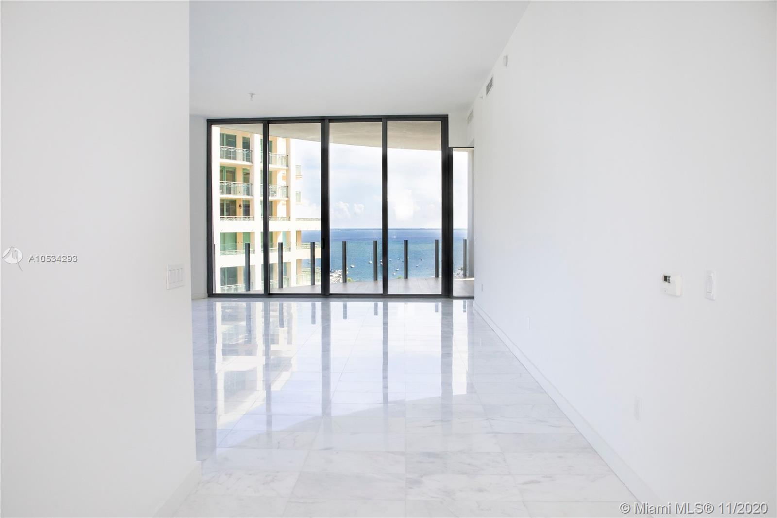 """THE MOST PRESTIGIOUS AND EXQUISITE BUILDING IN SOUTH FLORIDA """"TWO PARK GROVE"""". 3 Bedrooms, 3 Full bathrooms and a powder room. Breathtaking Bay View from Master and Social Areas with a majestic terrace on the 17th floor. City Views from Guest Rooms, both are en-suite bedrooms. Bathrooms and Kitchen Mastery Design By William Sofield,  Sub-zero and Wolf appliances.  Open concept kitchen-Dining-Living-Terrace. State of the Art amenities, like a luxury resort, roof top pool, ground pool, cabanas, gym, sauna, steam room, children's play areas. Wine tasting room with private wine storage, 5 acres of breathtaking gardens design By Enzo Enea. Come and own a life of  Luxury and Prestige."""