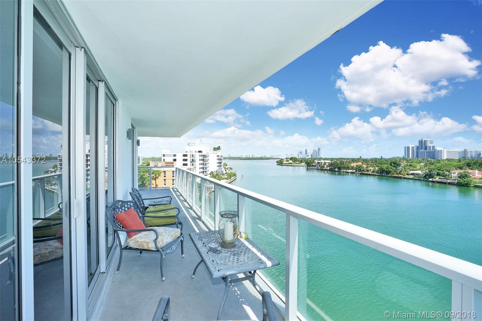 LIVE IN PARADISE - Brand new building, built in 2016! Incredible, custom waterfront residence featuring an open floor plan, porcelain white tile floors and contemporary finishes throughout. This 1,164 SF unit has views of Biscayne Bay from every room! Living area offers floor to ceiling glass doors with panoramic views of the intra-coastal. Unit also offers spacious bedrooms, high efficiency A/C, huge wrap-around balcony, walk-in closets, washer/dryer in unit and more. Harbour Park offers a rooftop pool overlooking Biscayne Bay, with amazing 360 degree water views. Secured lobby, and unit comes with 2 parking spaces.