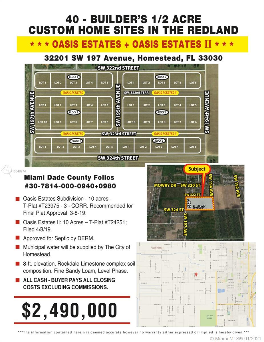 32201 SW 197 AVENUE, Homestead, FL 33030
