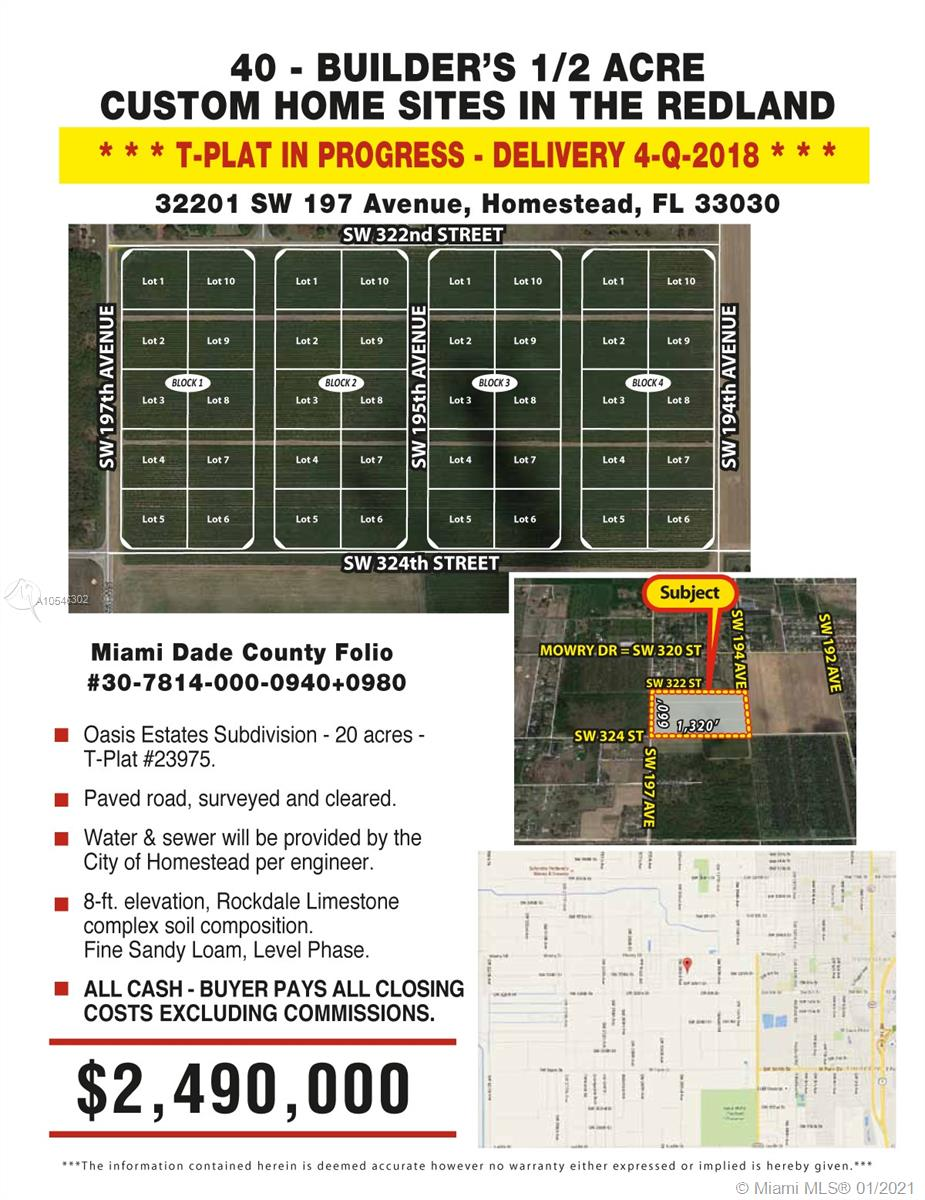32201 SW 197 Ave, Homestead, FL 33030