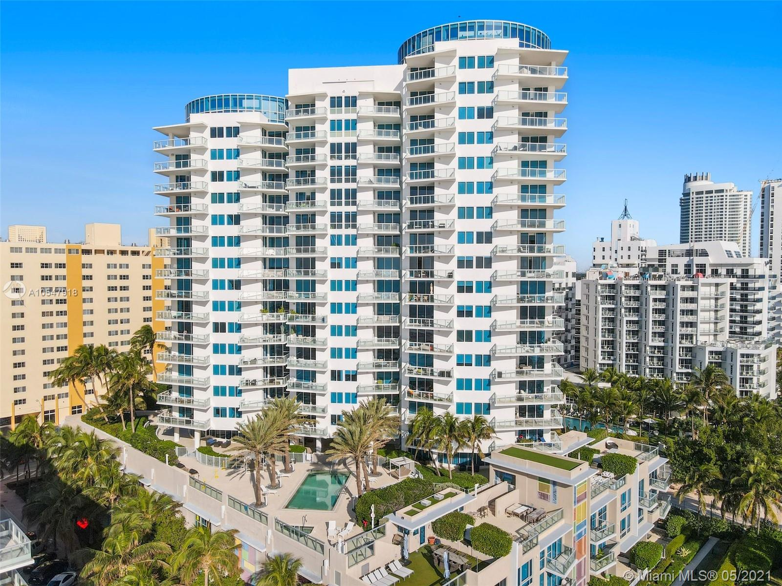 DIRECT OCEANFRONT 2 BEDROOM RESIDENCE DESIGNED BY LUMINAIRE AT MOSAIC! Private elevator entry foyer with 36x36 Light Limestone Flooring throughout the unit on to 2 Beachfront Terraces. Beachfront Living Room with Large Terrace to enjoy the Ocean Breeze. Split floorplan for privacy with Floorthru views of both the Atlantic Ocean and City of Miami Beach. Walnut Italian Kitchen with Miele & SubZero Appliances; 2 full Baths in Italian Stone. Full Service Boutique Building with Beach Club Service, Gym, Pool, BBQ, Casbah Room Movie Theater, Gardens,  24-hr Concierge & Valet.