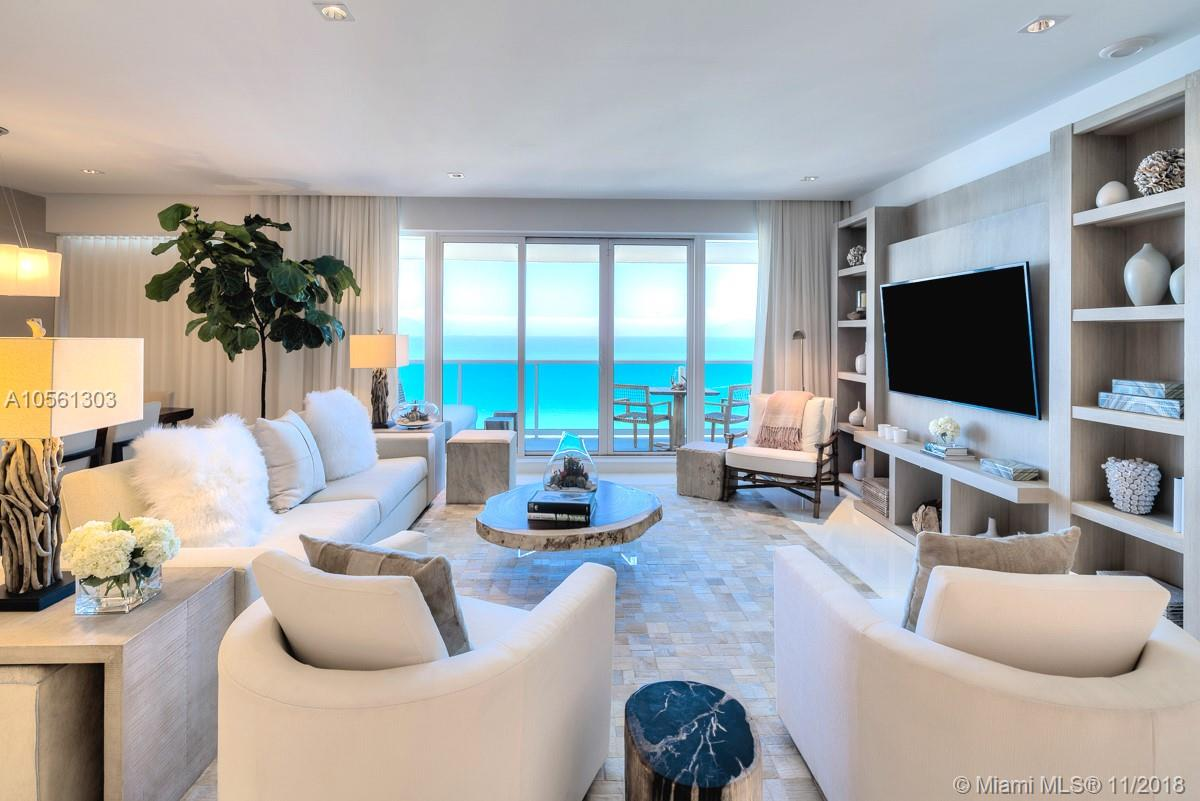 Enjoy over 80 ft. of direct ocean views from every room in this ultra luxurious top floor 4 bedroom, 4.5 bathroom, 3,184 sq. ft. penthouse with two private balconies. Guests have access to a variety of white glove services including a private fully-staffed residence lobby, valet, concierge, chauffeured Teslas, the hotels 5 star luxurious eco-conscious amenities. Rental includes linens and towels, toiletries, dishes, pots and pans, daily coffee and tea, full use of all the hotel amenities: 4 pools, 4 restaurants, 3 bars, 14,000 sq. ft. spa and hair salon, Soul Cycle, chauffeured Tesla. Sought after by many celebrities, this is truly a magnificent property and an experience you will never forget. Available for daily, weekly, monthly and yearly rentals through Five Star Luxury Travel.