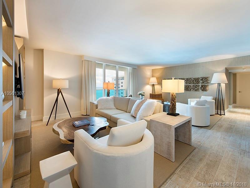 Enjoy direct ocean views from this 3 bedroom + den luxurious 2,233 Sq. Ft. condo. Comes with the custom hotel furniture package designed by acclaimed Brazilian interior decorator Debra Aguiar. Each room has smart TV's. Guests have access to a variety of white glove services including a private fully-staffed residence lobby, valet attendants, personal concierge, chauffeured Tesla sedans, the hotels 5 star luxurious and chic eco-conscious amenities. Rental includes linens and towels, toiletries, dishes, pots and pans, daily coffee and tea, full use of all the hotel amenities to include 4 pools, 4 restaurants, 3 bars, 14,000 sq, ft, spa and hair salon, Soul Cycle, chauffeured Teslas, and much more. Available for daily, weekly, monthly and yearly rentals through Five Star Luxury Travel.