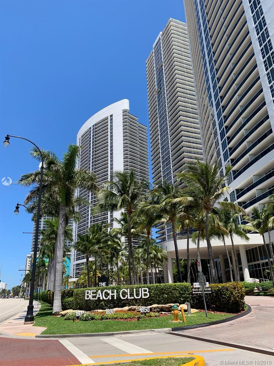 GORGEOUS FURNISHED UNIT IN BEACH CLUB, PERFECT FOR SHORT TERM OR LONG TERM RENTAL* THIS UNIT FEATURES BEAUTIFUL MARBLE FLOORS, OPEN KITCHEN, SS APPLIANCES** GREAT VIEWS OF THE INTRACOASTAL AND CITY** MANY FANTASTIC AMENITIES INCLUDING A 50,000 SQFT GYM OVERLOOKING THE OCEAN, SPA, JUICE BAR, AMAZING POOLS AND MUCH MORE