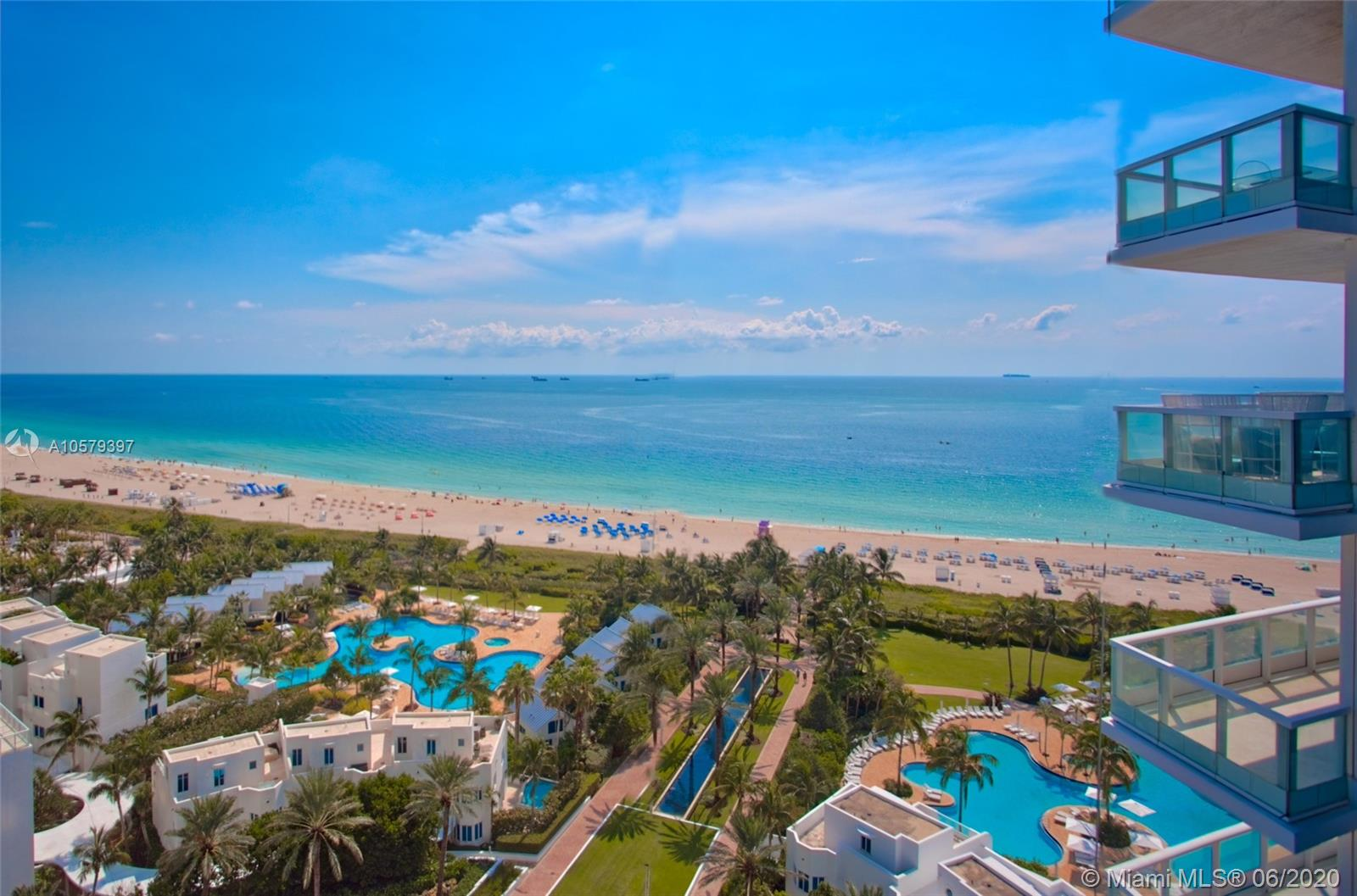 Spacious 3 bedroom and 3 bath in the highly sought after Continuum South Tower.This rarely available, both East and West Corner line captures the best of both views, Ocean and Bay; Fisher Island & the Downtown Miami skyline.Renovated unit with hard wood floors in living area & marble baths.Top of the line finishes including electronic blackout shades & surround sound throughout. Amenities include Oceanfront restaurant, 3 tennis courts, 25,000 sq ft luxury spa,beach & towel service,5 star concierge & more