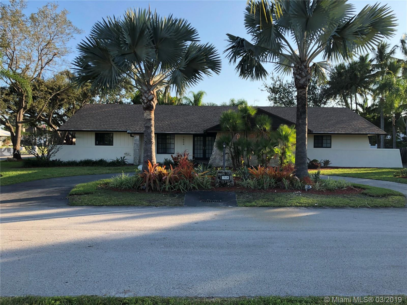 7804 SW 178th Terrace  For Sale A10580639, FL