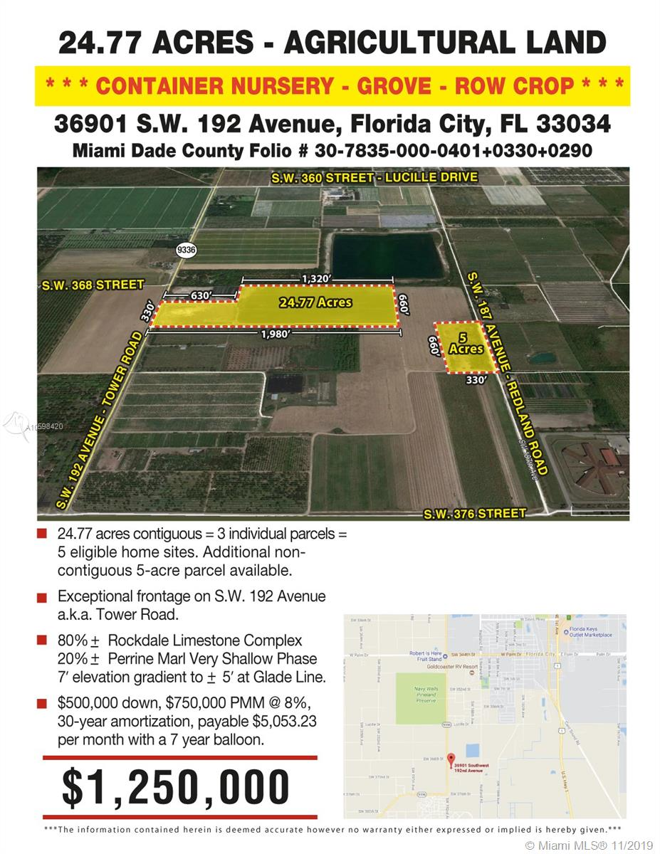 36901 SW 192 AVE, Florida City, FL 33034