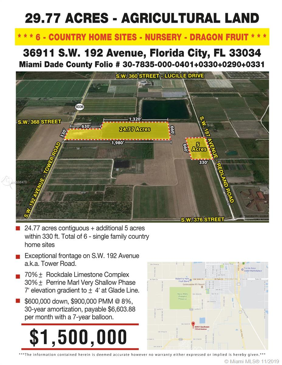 36911 SW 192 AVE, Florida City, FL 33034