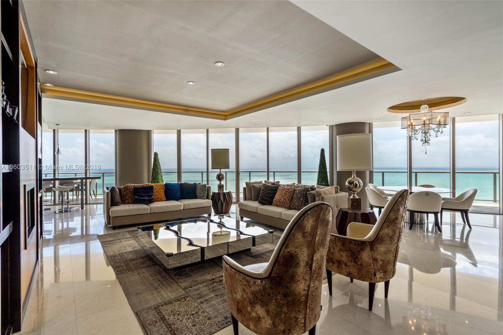Exquisitely finished and furnished residence at the St. Regis Bal Harbour Center (Hotel Tower). 3 bedrooms, 3.5 baths. Breathtaking ocean view, enjoy 5 star resort amenities including 14000 SF Remede Spa.