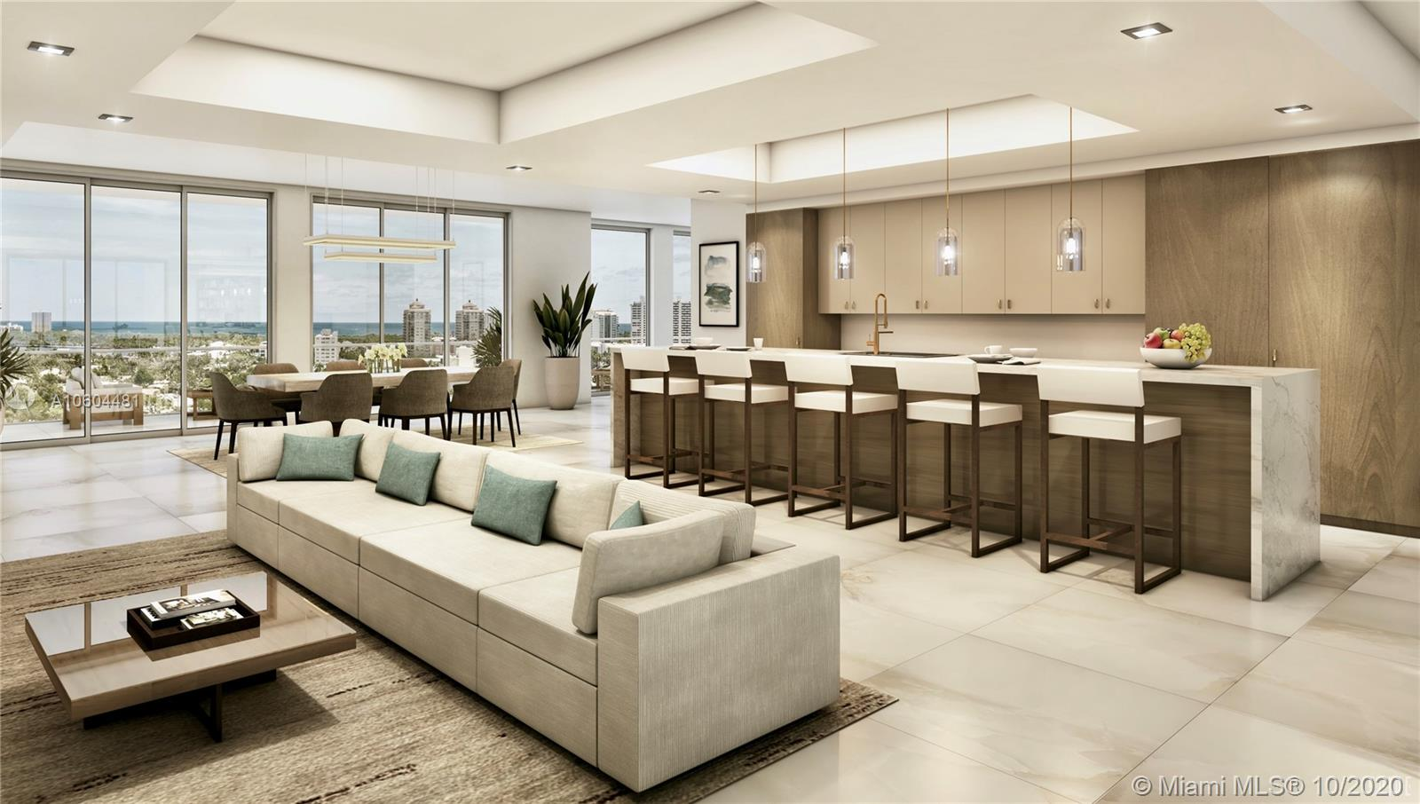 One of Fort Lauderdale's Most Spectacular Penthouses | Currently Being Built-Out | Flow-Through Penthouse with Ocean, Intracoastal, Skyline & Sunset Views | Summer Kitchen on Huge Terrace Overlooking the Ocean & Parks | Private, 2 Car Garage & Boat Slip Included | Large Storage, Golf & Kayak Lockers Included | Enjoy the Unparalleled Lifestyle at RIVA: 40,000 SF of Amenities including Lap Pool, 7,000 SF Gym with Fitness Studio, Resort Style SPA with Sauna, Steam & Treatment Rooms, Sunset Deck with Jacuzzi, Residence Lounge, Kitchen to Entertain, 24/7 Front Desk Attendant, Valet, Dog Walks, 400 Feet of Waterfront, Paddle-board/Kayak Lockers & Central Location. Speak with the On-Site Sales Team to See Both Remaining Penthouses.