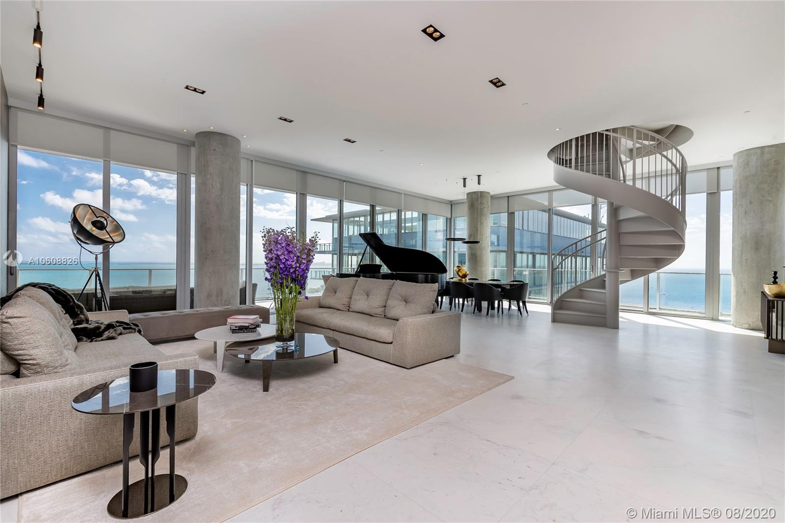 The Nicest Penthouse in Miami, at this distinct contemporary building with luxury amenities like 5 pools, spa, fitness center, club room, library, residents lounge, children area, pet area, full time concierge, private elevator. Modern Professionally Decorated Penthouse has a private pool and its own roof top, over $1 million in upgrades, fantastic media room, high end new bathrooms, high tech; curtains, temperature and light controls. Amazing views from every room.