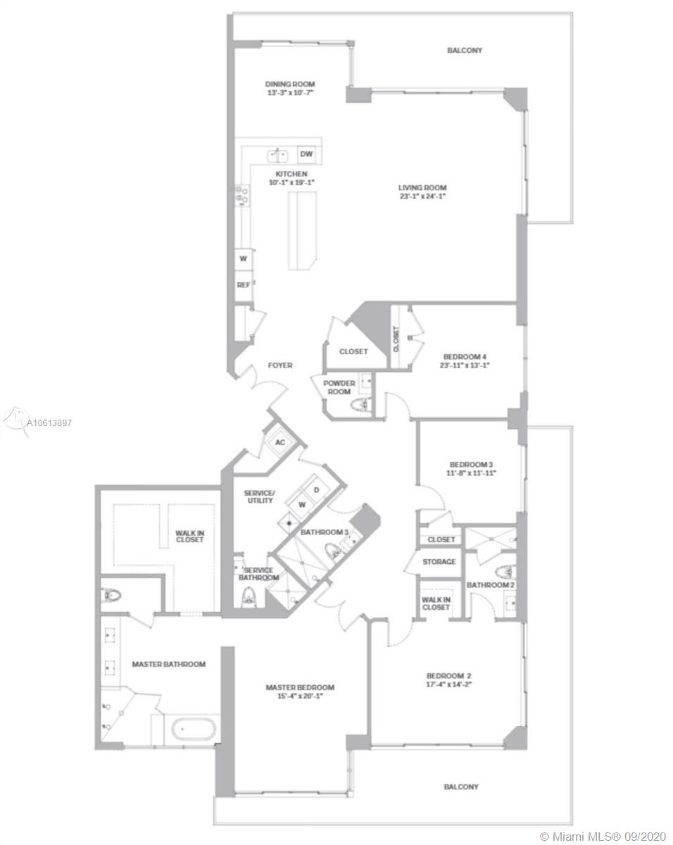 88 SW 7th St #3701 For Sale A10613897, FL
