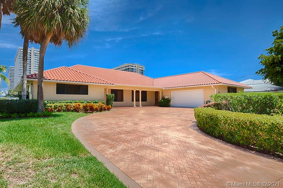 BEAUTIFUL WATERFRONT PROPERTY WITH 100 FEET OF WATERFRONT DIRECTLY ON THE INTRACOASTAL WATERWAY.  LARGE PROPERTY (LOT SIZE 100' X 150').  ONE-STORY HOME WITH WIDE INTRACOASTAL VIEWS. HOME FEATURES NEW ROOF, IMPACT WINDOWS AND DOORS, UPDATED KITCHEN, HEATED POOL, COVERED TERRACE, LIVING/DINING AND FAMILY ROOM. OFFERING THREE BEDROOMS, THREE AND A HALF BATHS, SPACIOU S MASTER SUITE. ENTERTAINER'S BACKYARD, LOT SIZE: 15,000 SQ.FT. , OCEAN ACCESS AND NO FIXED BRIDGES. LOCATED IN SOUTH AFTER GATED GOLDEN ISLES WATERFRONT COMMUNITY.