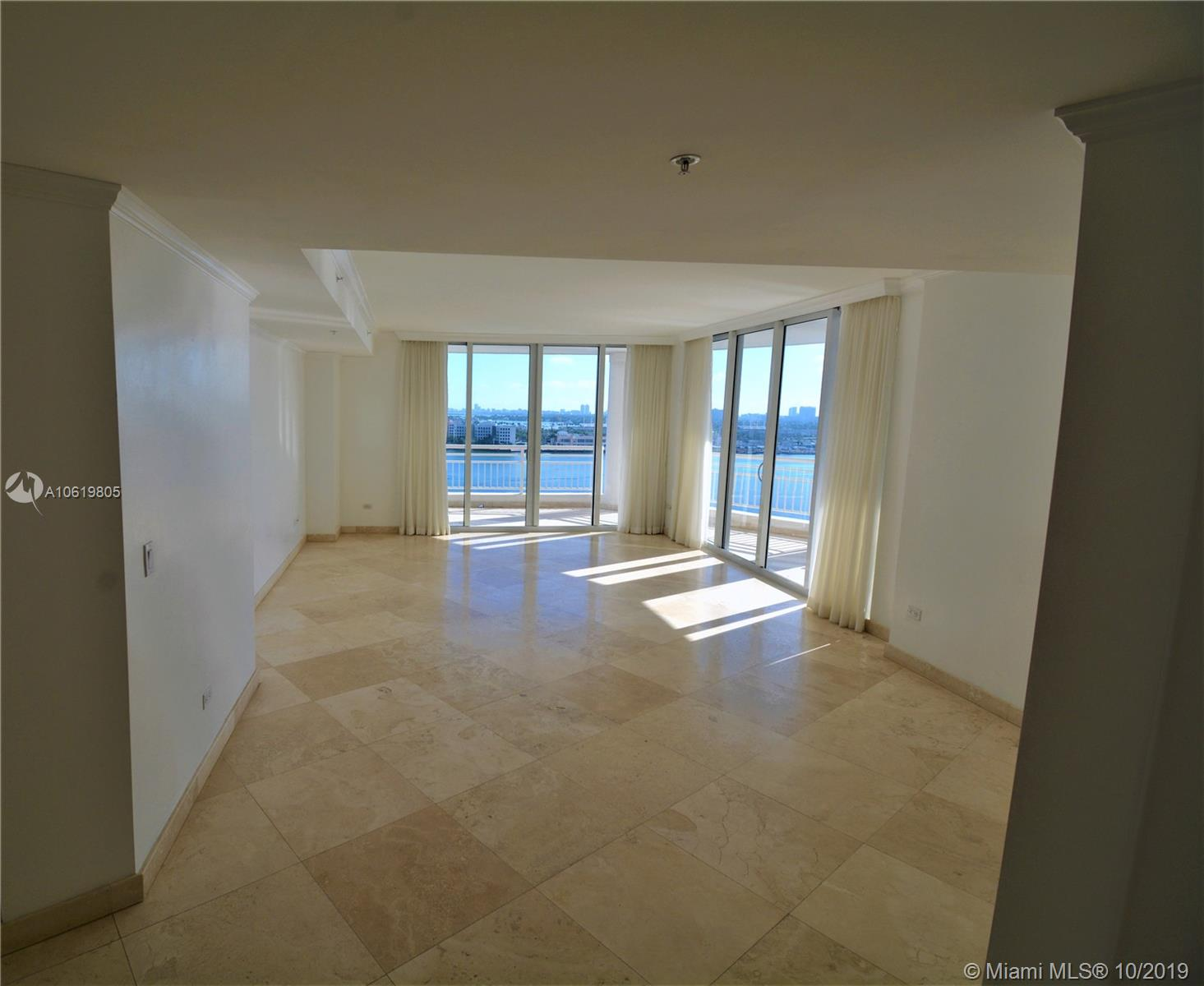 AMAZING CORNER UNIT AT LUXURIOUS TEQUESTA III CONDOMINIUM IN SECLUDED AND PRIVATE BRICKELL KEY.  ENJOY INCREDIBLE WATER VIEWS OF FISHER ISLAND-BISCAYNE BAY-PORT OF MIAMI IN THIS LARGE AND COMFORTABLE 3 BEDROOM 2.5 BATHROOM UNIT.  THIS IS A LARGE UNIT WITH A SPLIT FLOOR PLAN, EAT IN GOURMET KITCHEN, FORMAL DINING AND WRAP AROUND BALCONY.  THIS IS A MUST SEE APARTMENT, THAT OFFER RESORT LIKE AMENITIES, INDOOR RACKETBALL/SQUASH COURTS, TENNIS COURTS, FULLY EQUIPPED TWO STORY GYM, BAY SIDE LUXURIOUS HEATED POOL, COVERED BBQ AREA, 24 HR SECURITY, AND MUCH MORE. AVAILABLE NOW.