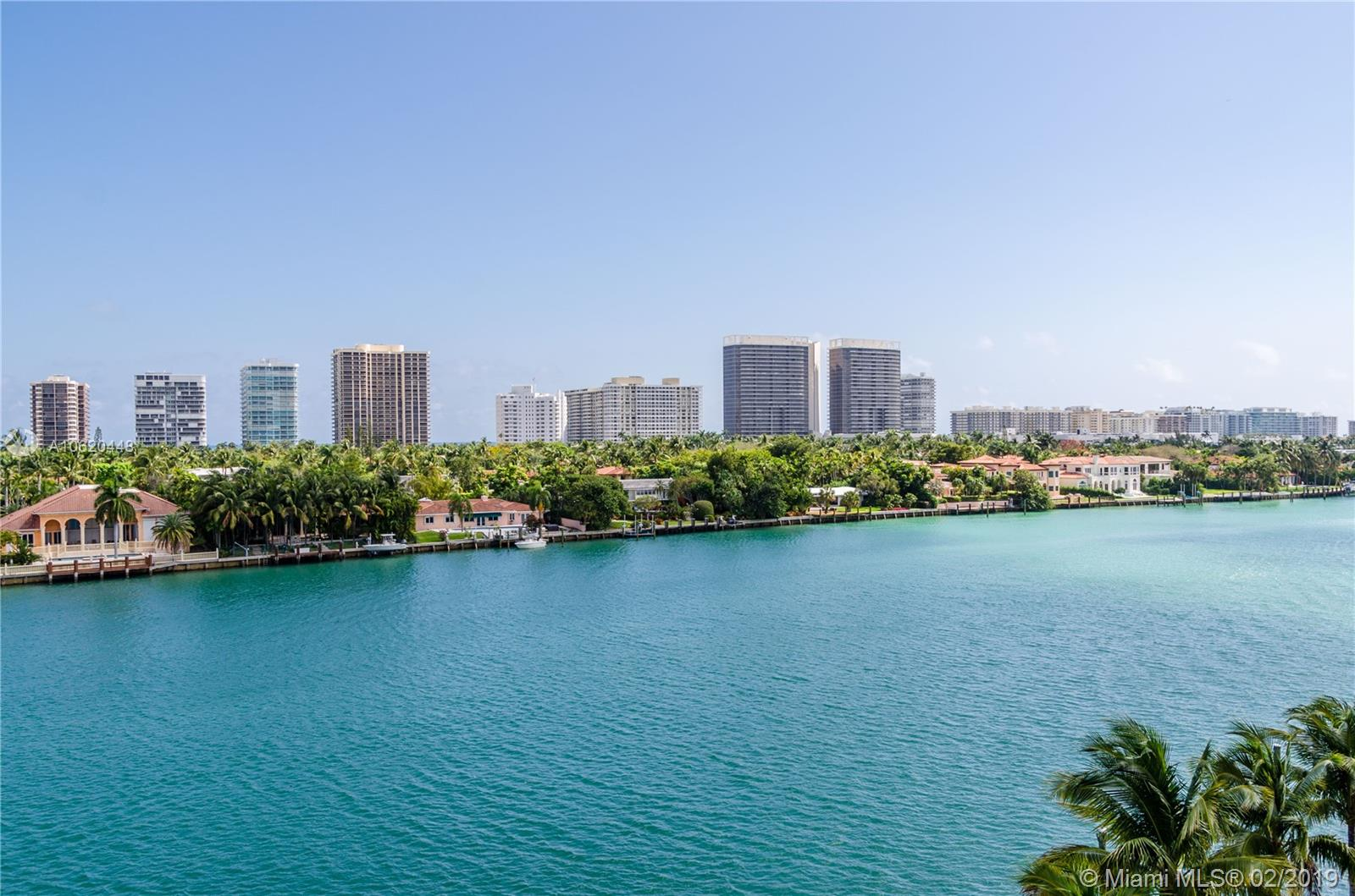 GREAT EAST UNOBSTRUCTED WATER VIEWS OF INTRACOASTAL AND BAL HARBOUR, OLETA PARK AND THE BEACHES SKYLINE. NEW 3 BD 2 1/2 BATH IN BAY HARBOR ISLANDS CONDO. SEMI PRIVATE ELEVATOR TO YOUR UNIT. TOP OF THE LINE APPLIANCES AND BATHROOM FINISHES. WASHER AND DRYER IN THE UNIT. WOOD FLOORS. HIGH CEILINGS. EXERCISE ROOM ON THE ROOFTOP WITH AN INFINITY POOL WITH 360 DEGREE PANORAMIC VIEWS. 2 COVERED PARKING SPACES. THREE STORY HIGH LOBBY ENTRANCE. NEAR BAY HARBOR, SURFSIDE AND BAL HARBOUR SHOPS AND BEACHES.