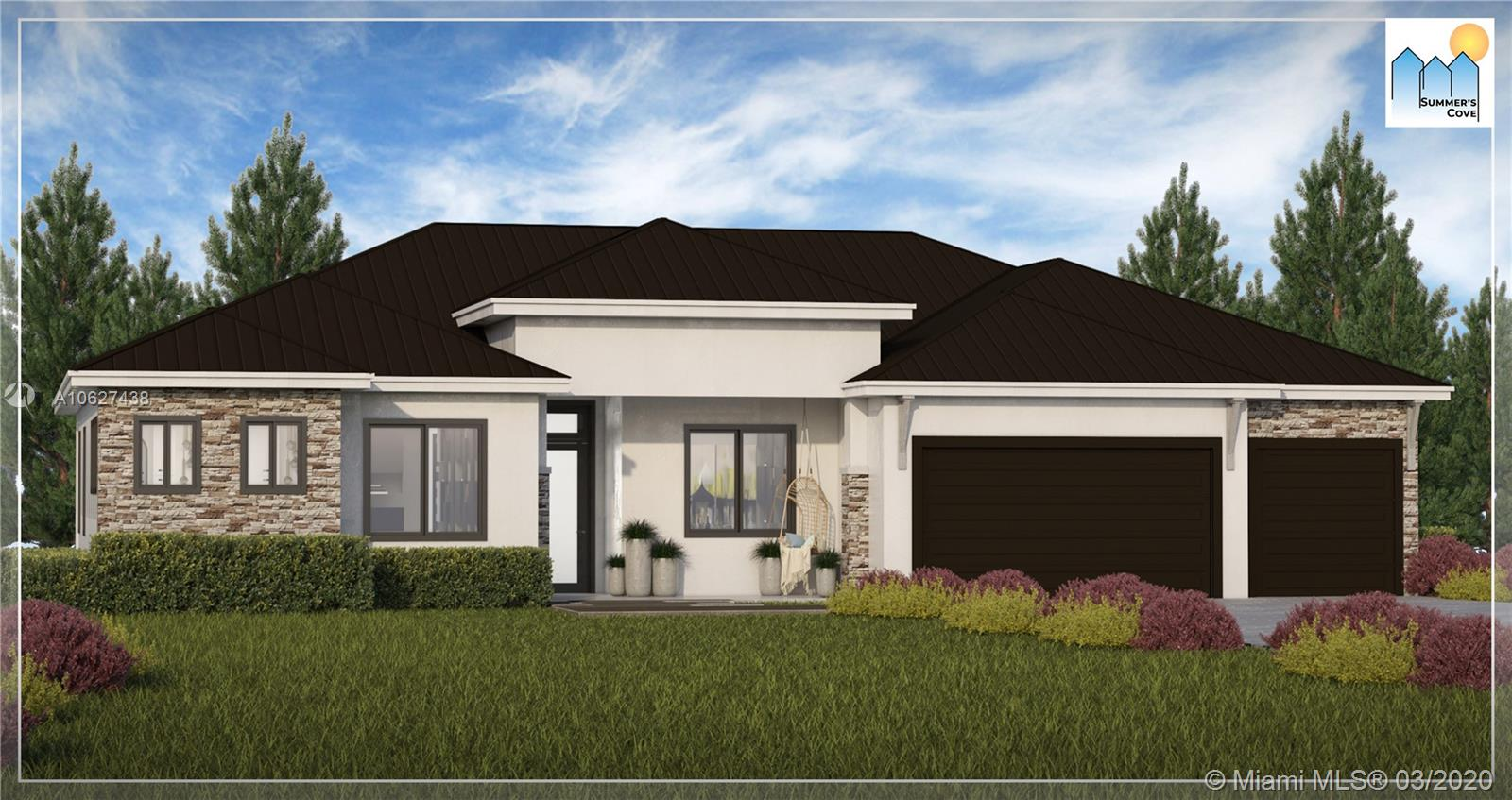 BRAND NEW PRE-CONSTRUCTION-2 HOMES. EACH WILL BE LOCATED ON A 1/2 ACRE LOT AND WILL FEATURE 4 BEDROOMS, DEN, LIBRARY, 3 BATHS AND 3 CAR GARAGE AND HAVE 2,900 SQ FT UNDER AIR.  BOTH HOMES WILL INCLUDE IMPACT GLASS WINDOWS, STAINLESS STEEL APPLIANCES, QUARTZ COUNTERS IN THE KITCHEN. METAL ROOFS, PAVERS ON DRIVEWAY & WALKWAY & MUCH MORE!  RESERVE NOW AND YOU CAN PICK YOUR OWN FINISHES. CONSTRUCTION WILL TAKE APPROX 5 MONTHS ONCE STARTED. BUILDER OFFERING UP TO 3% CONTRIBUTION TOWARDS CLOSING COSTS IF BUYER USES BUILDER'S PREFERRED LENDER AND PREFERRED TITLE COMPANY.