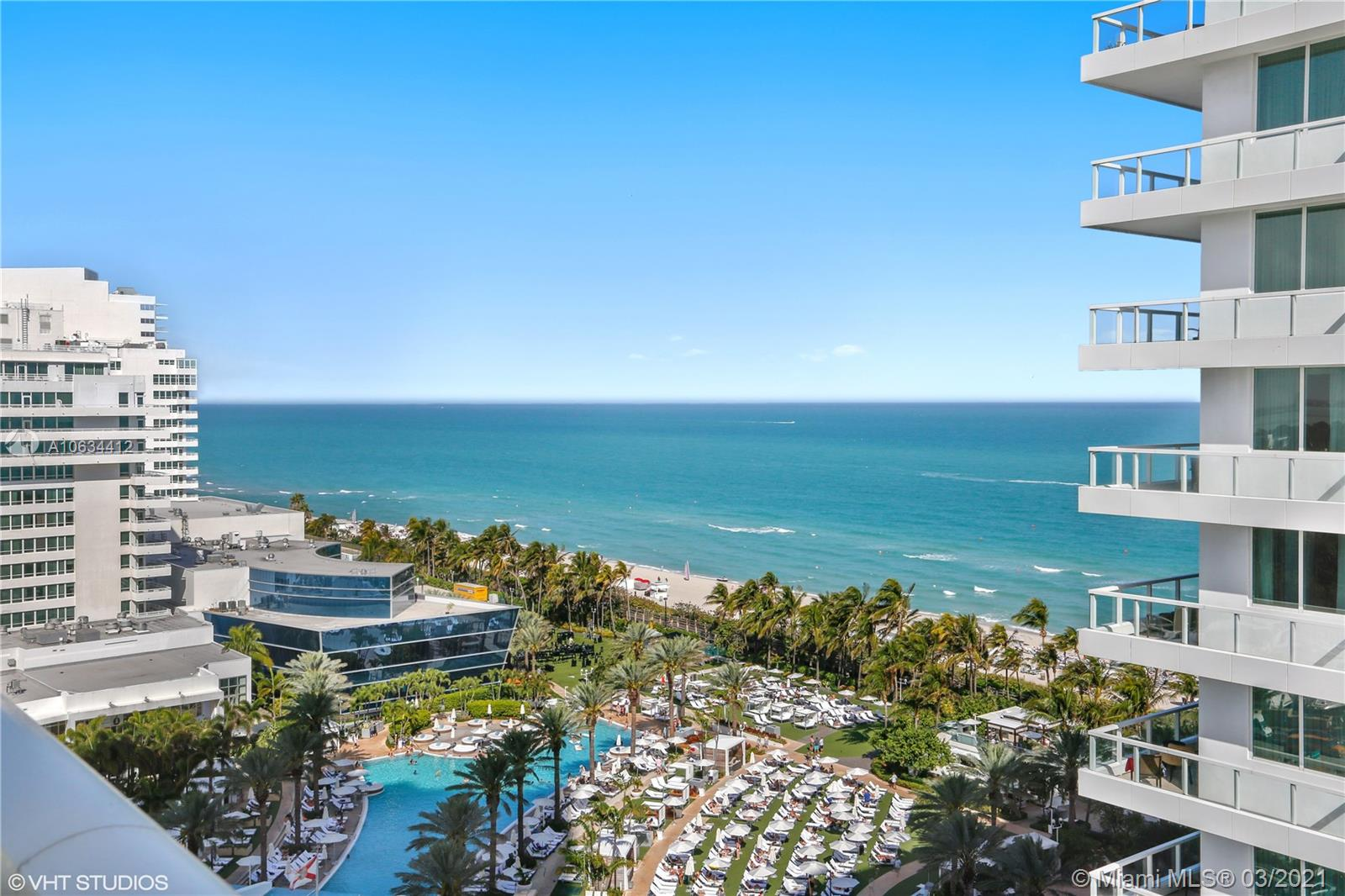 Beautiful Jr Suite w/ocean & city views at Fontainebleau II. Enjoy full service, vacation-style living in a furnished turnkey unit with ample closet space and balcony. This unit comfortably sleeps four with a king bed, living area with sleeper sofa and kitchenette. Enroll in hotel rental program & receive income while away! The Fontainebleau Resort offers luxury amenities on 22 oceanfront acres including award-winning restaurants, LIV night club, Lapis spa & state-of-the-art fitness center. Maintenance includes: AC, local calls, electricity, valet + daily free breakfast in the owner's lounge.