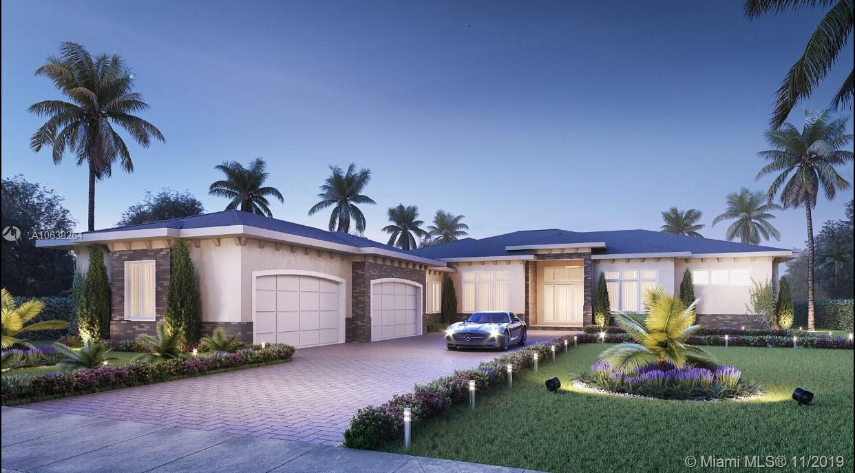NEW CONSTRUCTION in the prestigious community of Plantation Acres. This 1 story home is situated on over 40,000 sq ft of land for total privacy. The luxurious details are consistent from the inside out. Transitional modern architecture outside and modern finishes inside. The front doors open to an expansive great room overlooking a custom pool and impressive backyard experience complete with a summer kitchen. Volume ceilings with decorative lighting create a elegant setting in every room including hallways. The oversized garage fits larger trucks & SUV's with room for storage. All of the finishes and designs are the top of the line. NEW CONSTRUCTION! BROOKMAN-FELS! NEW CONSTRUCTION!