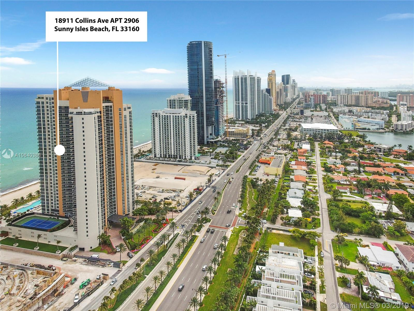 18911  COLLINS Ave #2906 For Sale A10640388, FL