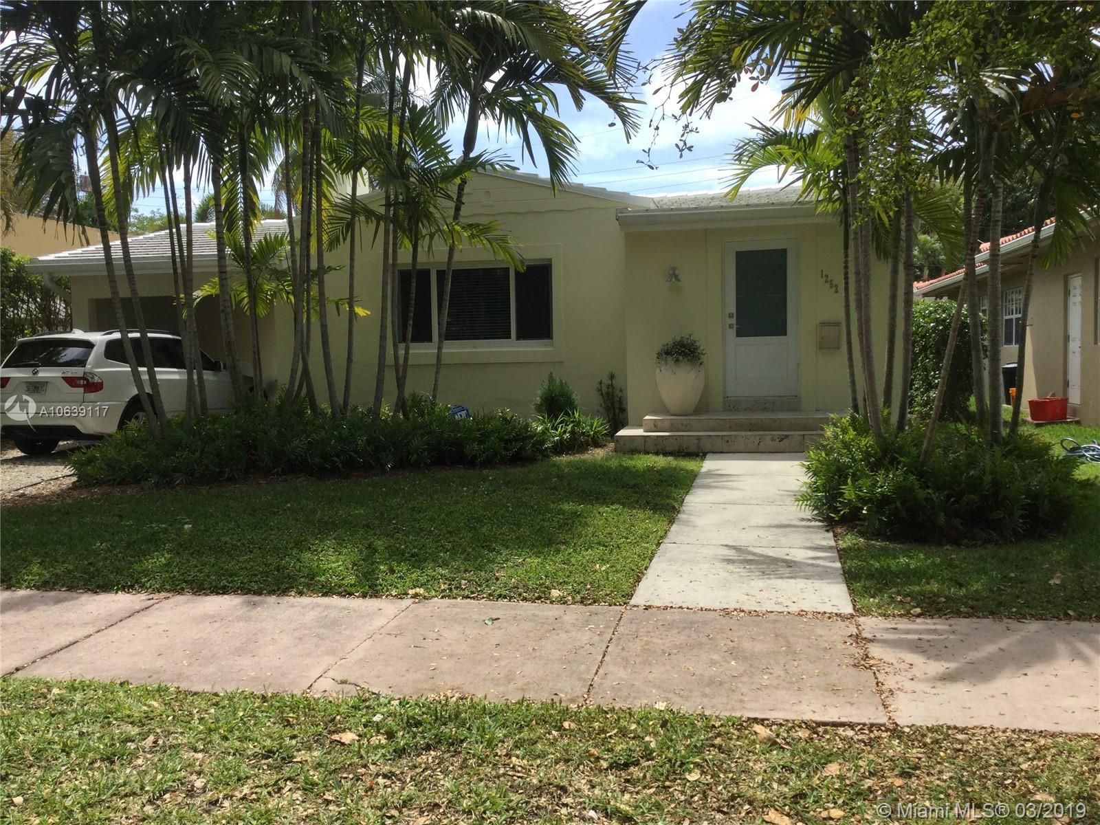 1252 Mariana Ave, Coral Gables FL 33134