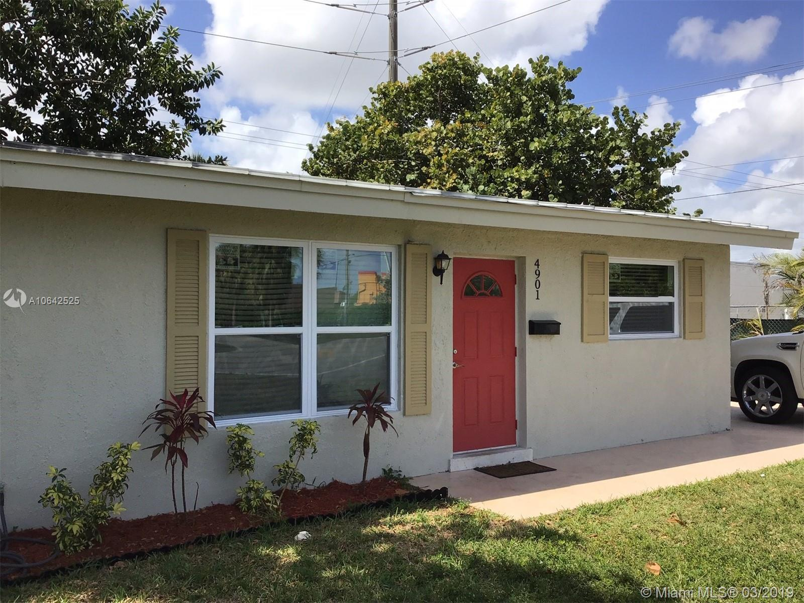 ATTENTION INVESTORS AND NEW HOMEOWNERS: Great 3/2 newly remodeled house in an amazing neighborhood in Oakland Park. New flooring, newer A/C, complete NEW impact windows. All improvements done with permits. Easy access to highway, 10 min drive to the beach. Big fenced backyard with room for a pool. Driveway for up to 3 cars. House is currently being used as a vacation rental with full booking for the past six months with great reviews. One of the lowest priced house in the area.