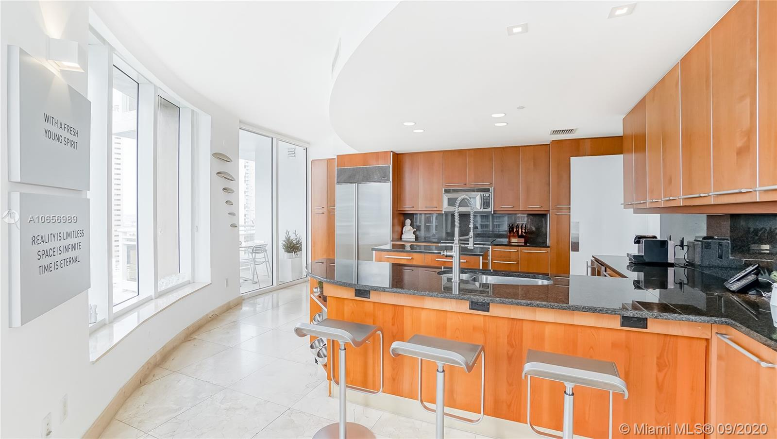 Most desirable line in the entire building. 3 bedroom corner unit in the most luxurious building on Brickell Key. Marble floors throughout, open floor plan, Italian kitchen and bathrooms. Phenomenal views day and night. Carbonell offers five star amenities on exclusive Brickell Key. 2 parking spaces + 3 storage units!!