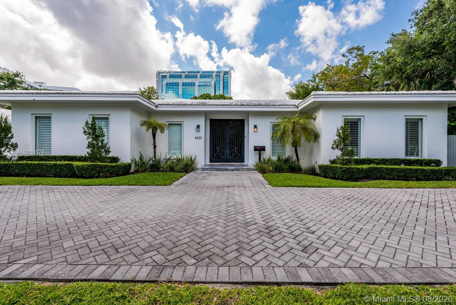Exclusivity meets Modern Luxury. Fully remodeled in 2014. This gem boasts 4,000 Sq.Ft. living space;13,760 lot;4 bed/4 baths open-space living;Kahr imported wide plank white washed floors;recessed WAC LED lighting;Italian 8ft doors;custom built-in closets; marble & onyx throughout bathrooms;Italian kitchen;Viking appliances;white quartz counter tops;heated salt-water pool & Guest house all surrounded by blue sapphire marble. Located in Bay Point & nestled across from famous Miami Design District.