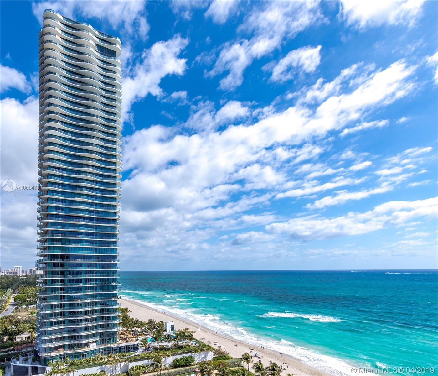 Features 360 degrees unobstructed ocean and city views. Only one residence per floor with over 7,600 sqft with 5,515 sqft A/C & 2,100 sqft of wrap around terrace. Unrivaled lifestyle with amenities & services such as full beach and pool services, private wine vault, business center, gym/spa, concierge & valet, & more. Unit with countless upgrades using only the highest quality finishes & materials that includes: top of the line Creston automation, Italian marble, custom design ORNARE cabinets, custom built wine cellar for 500+ bottles, exotic stone and much more. The unit is a masterpiece, guaranteed to satisfy the most demanding buyers!