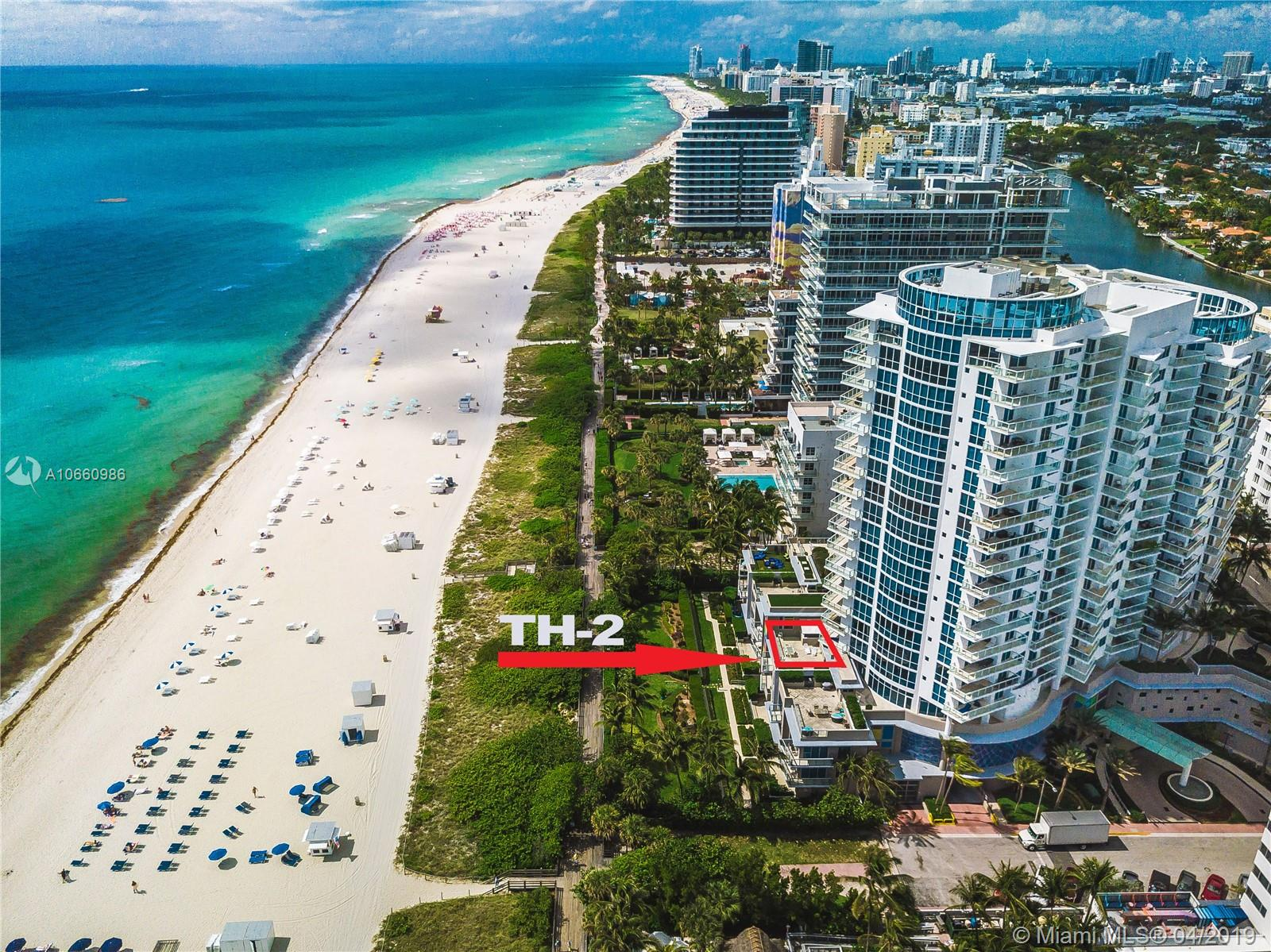 3801  Collins Ave #TH-2 For Sale A10660986, FL