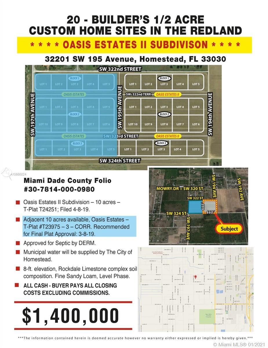 32201 SW 195 AVENUE, Homestead, FL 33030