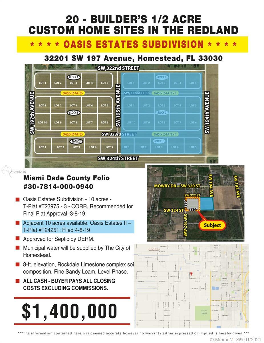 32203 SW 197 AVENUE, Homestead, FL 33030